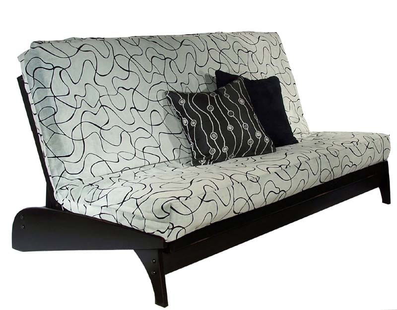 Dillon Black Queen Wall Hugger Futon Frame By Strata Furniture