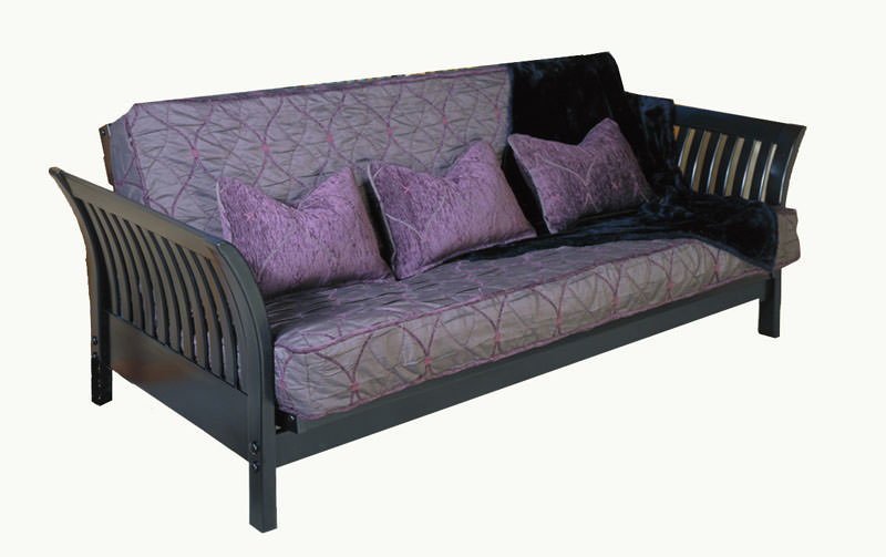 Flair Black Loveseat Futon Frame By Strata Furniture