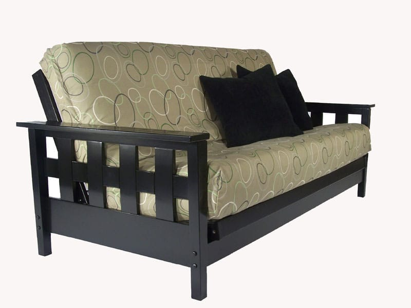 Lambton Black Full Wall Hugger Futon Frame by Strata Furniture