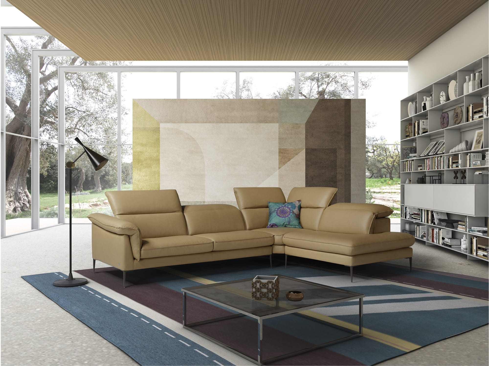 Fine Eden Premium Leather Sectional Yellow By Jm Furniture Ocoug Best Dining Table And Chair Ideas Images Ocougorg