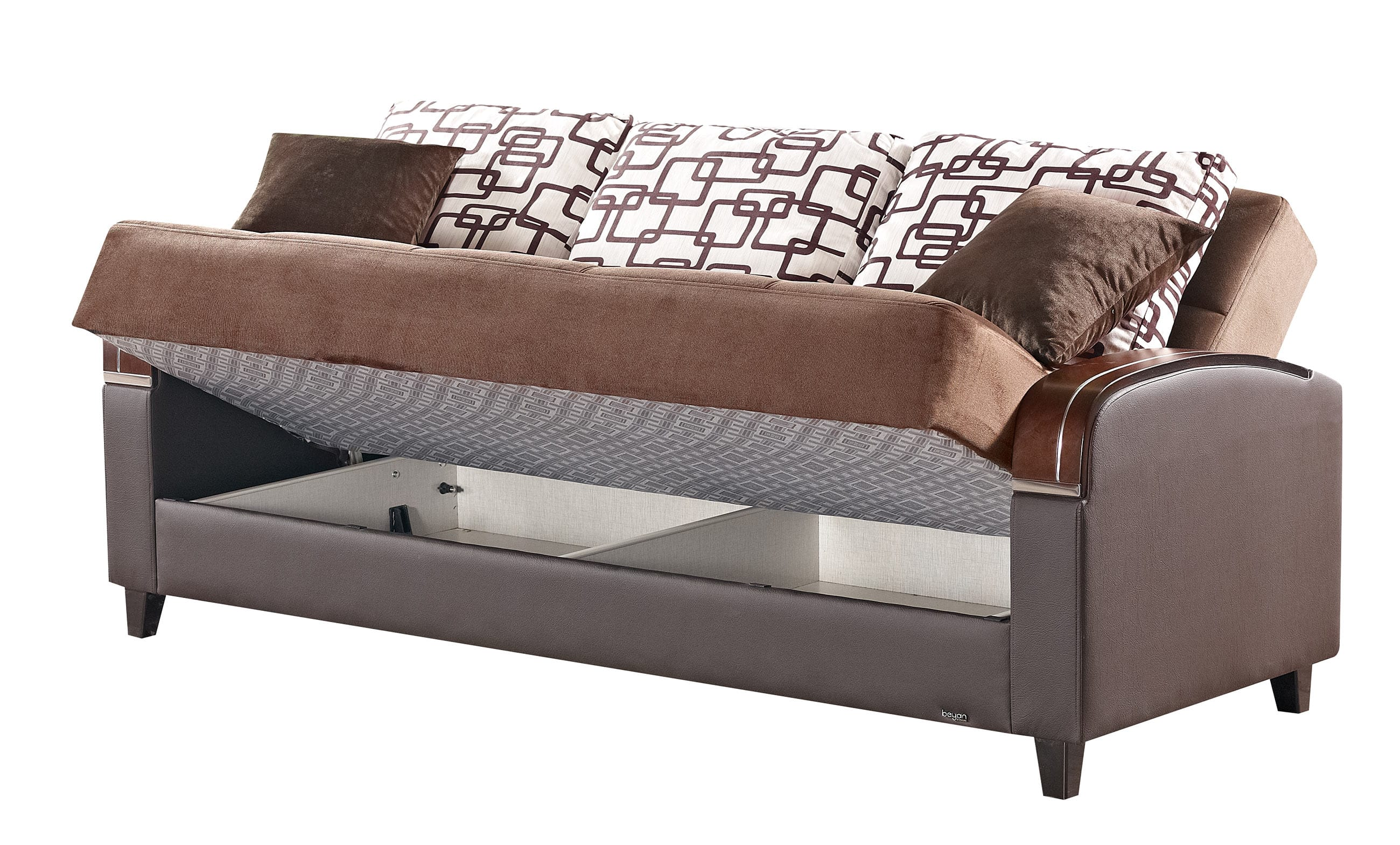 Soho brown fabric sofa bed by empire furniture usa for Furniture stores in soho new york city