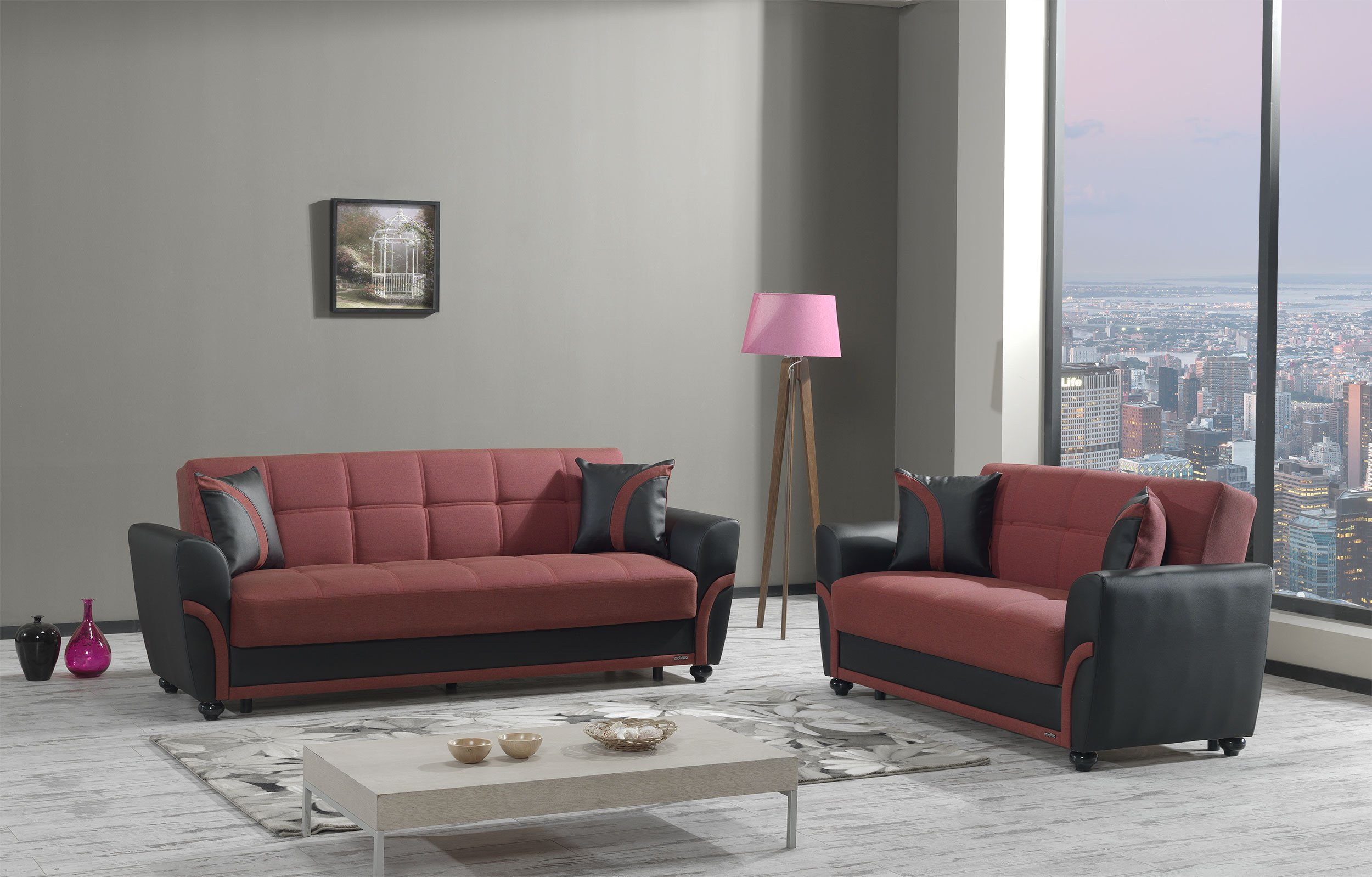 star city red sofa bed by mobista