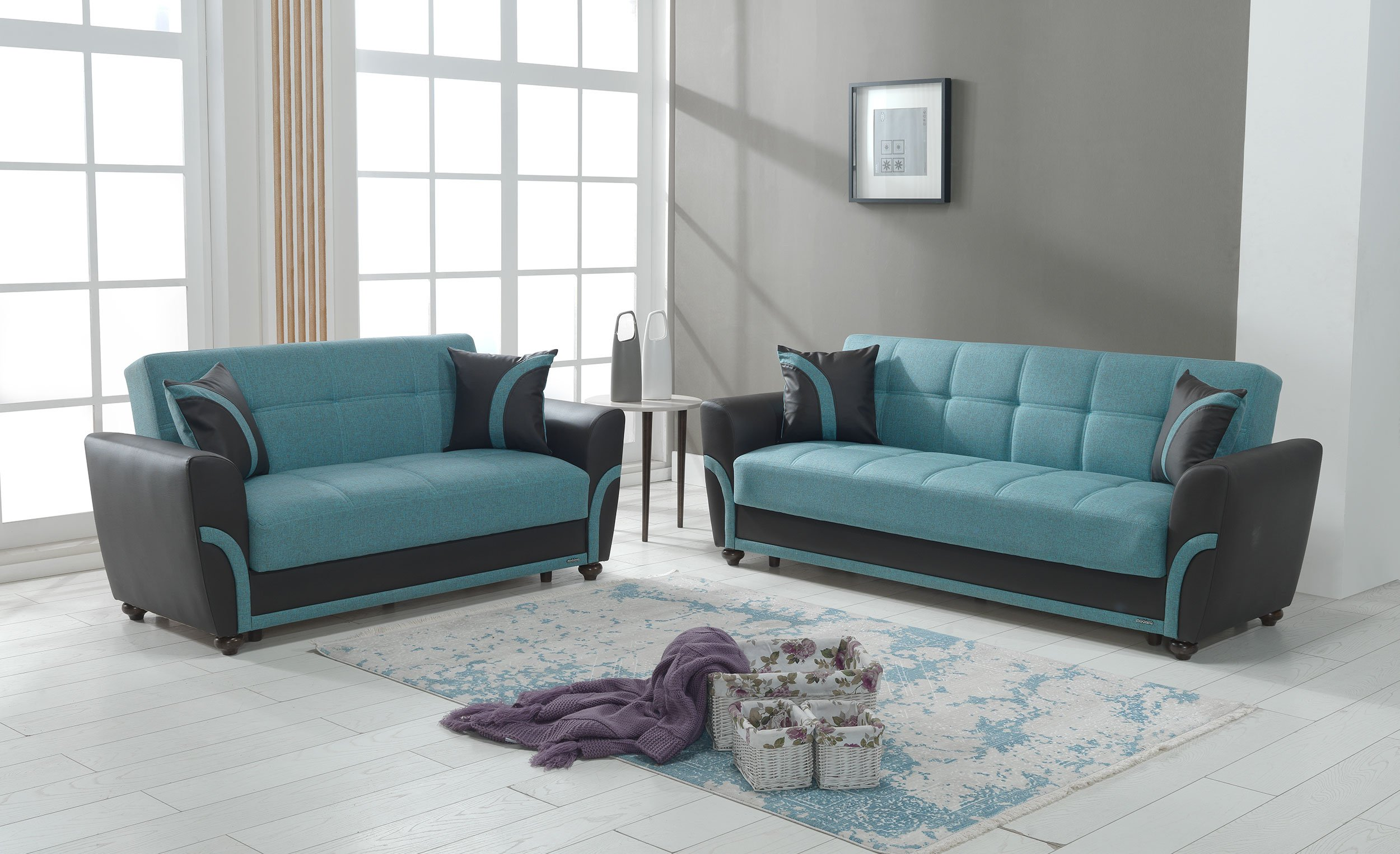 Star City Turquoise Sofa Bed by Mobista