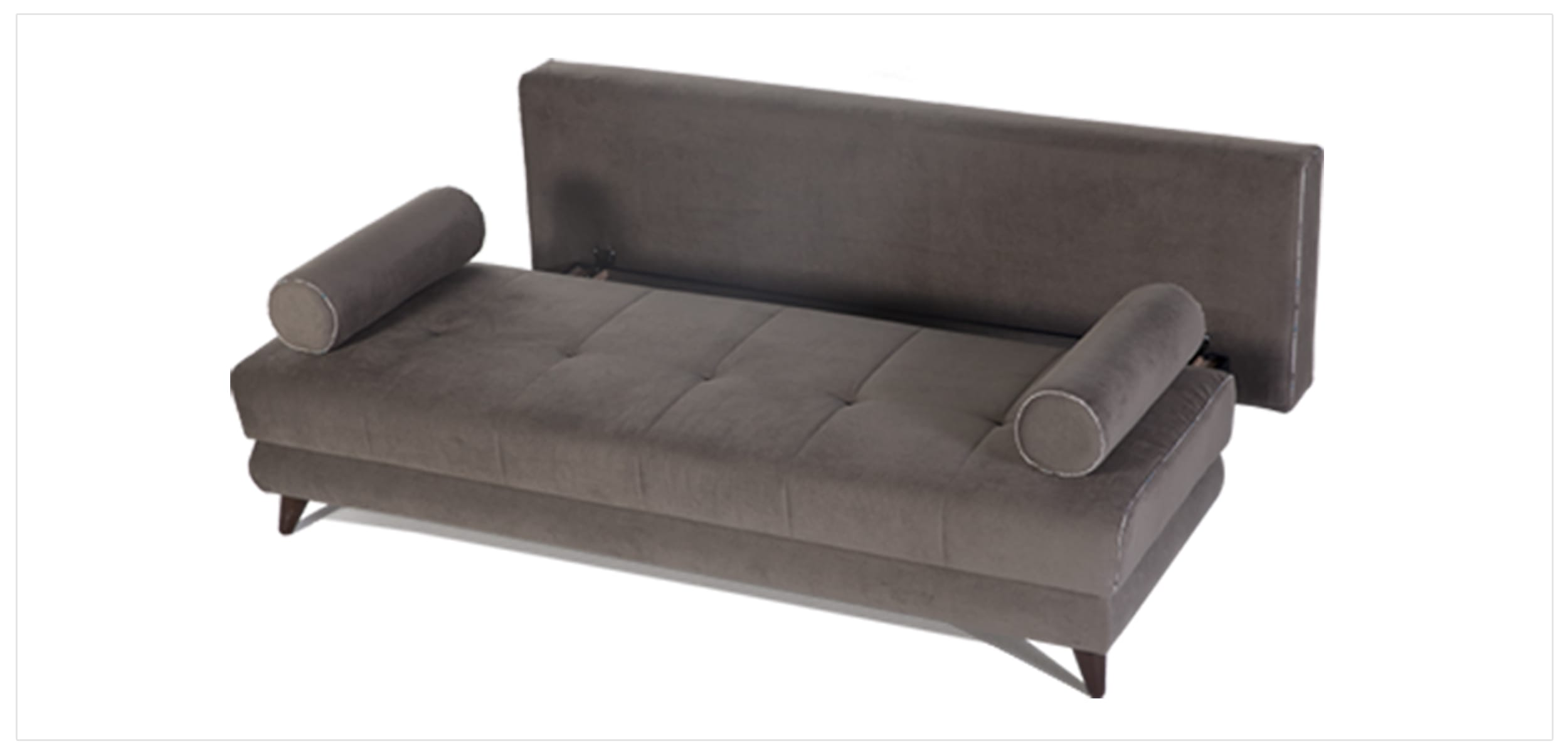 Stella Image Gray Queen Sofa Bed with Storage by Sunset