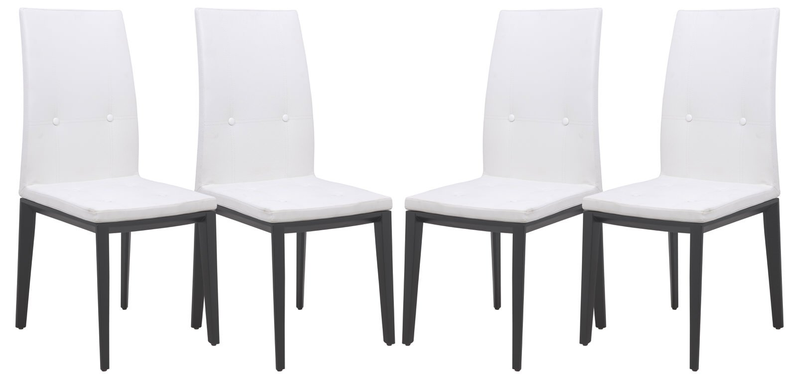 Swell Somers Contemporary Faux Leather White Dining Chair Set Of 4 By Leisuremod Ibusinesslaw Wood Chair Design Ideas Ibusinesslaworg
