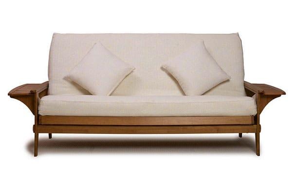santa cruz medium oak futon frame by lifestyle  rh   futonland