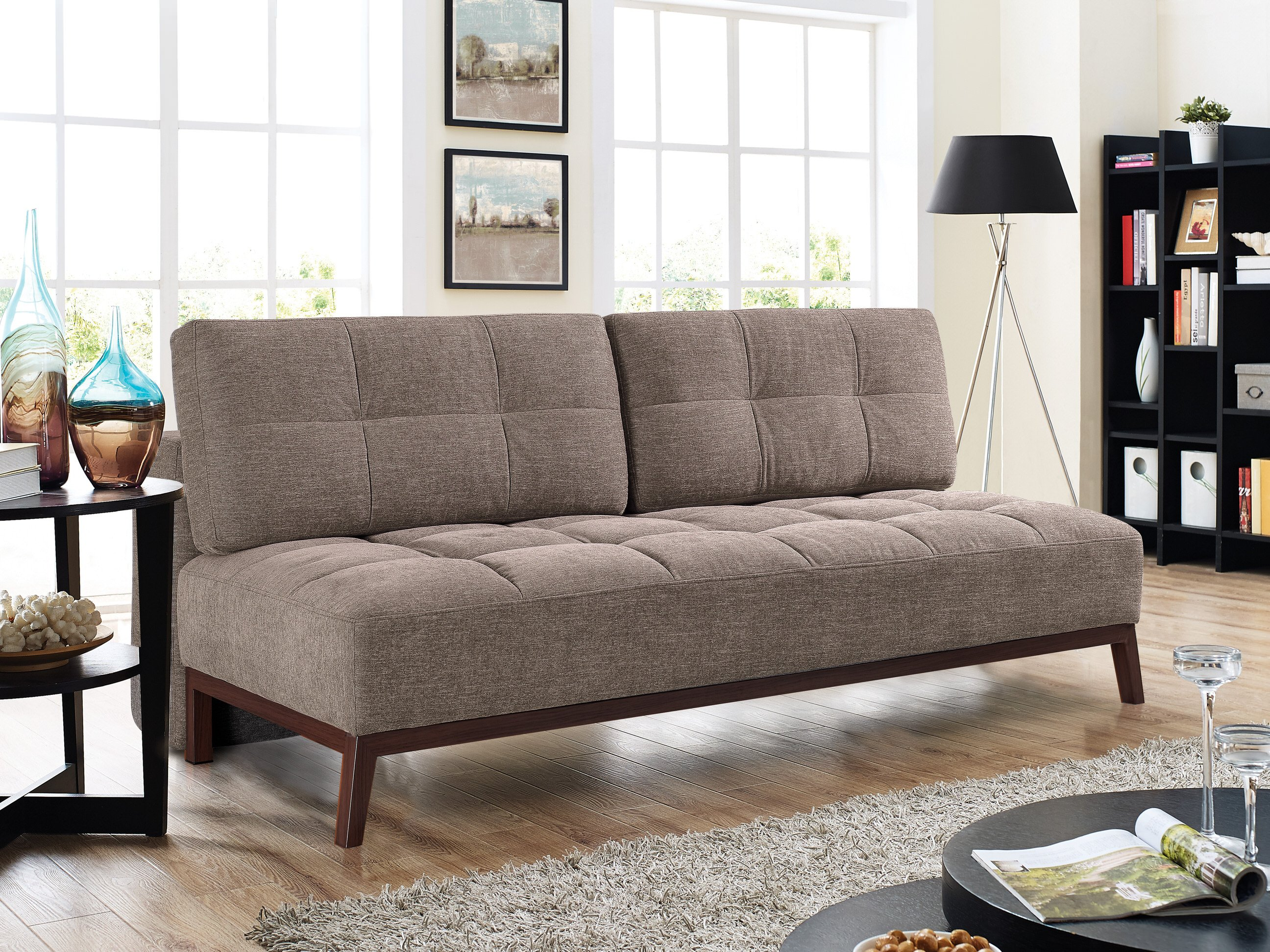 Tremendous Santana Convertible Sofa Bed Brown By Lifestyle Solutions Andrewgaddart Wooden Chair Designs For Living Room Andrewgaddartcom