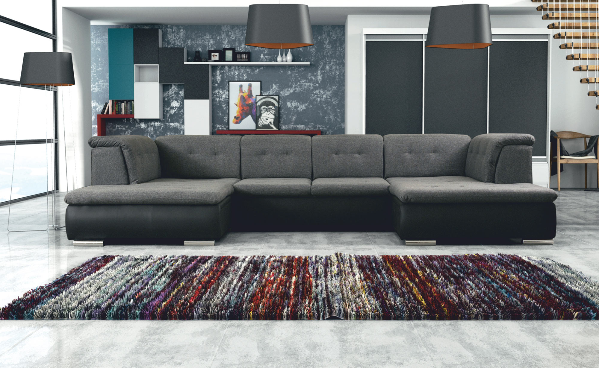 Prime Santiago Gray Sectional Sofa By Skyler Designs Gmtry Best Dining Table And Chair Ideas Images Gmtryco