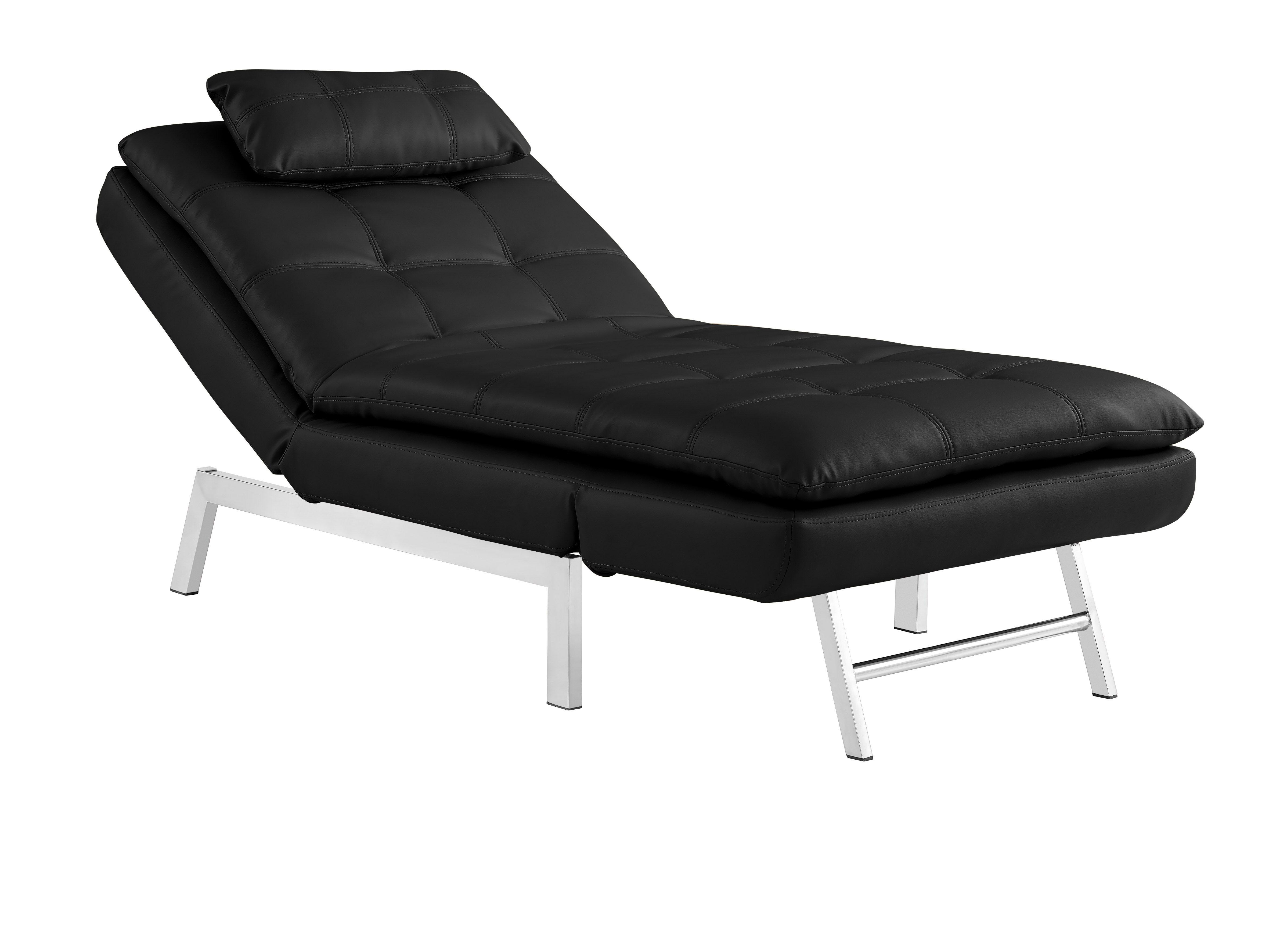 Vienna Chaise Black By Serta Lifestyle