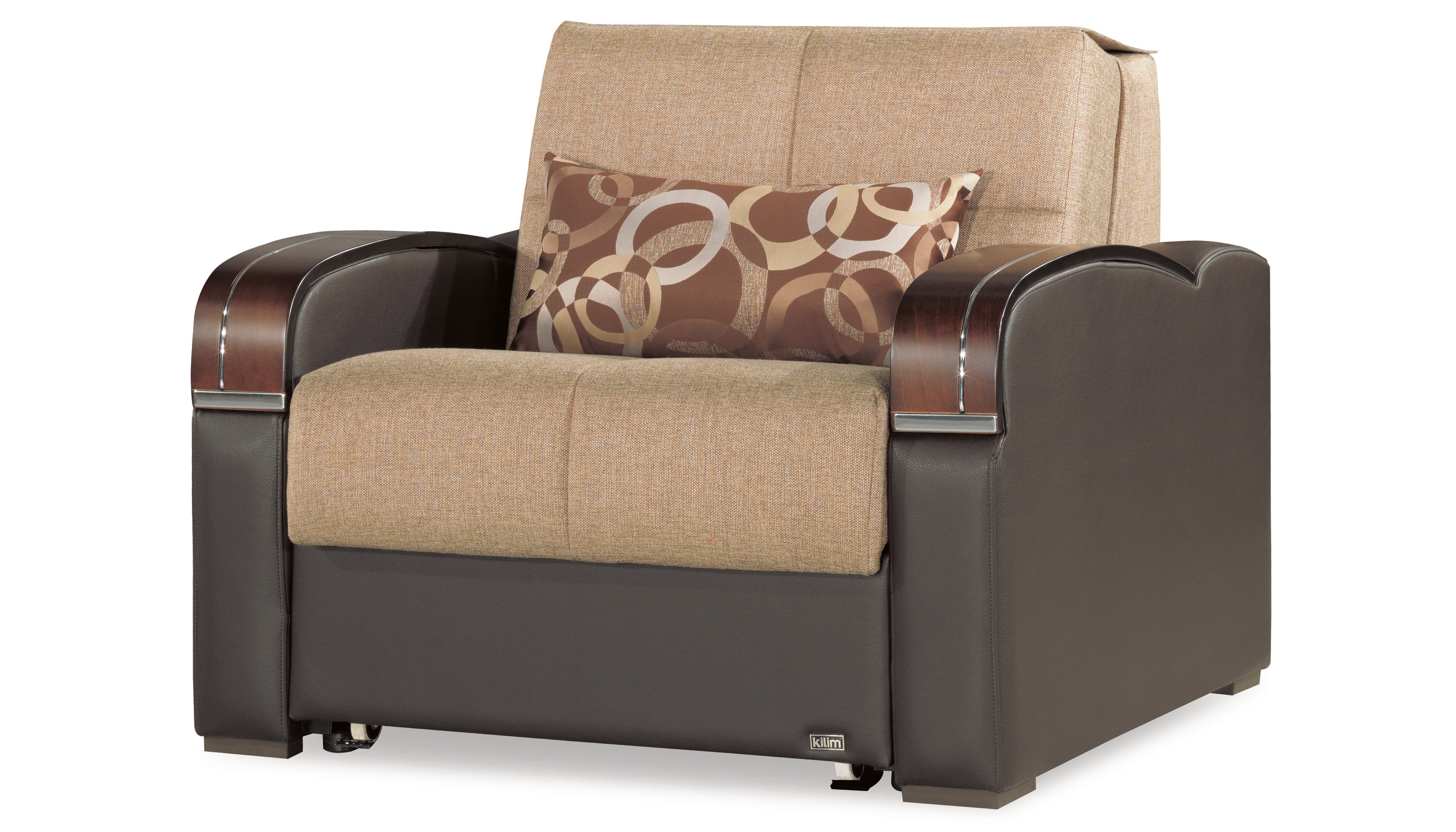 the best attitude 80eaf 2f76a Sleep Plus Brown Convertible Chair Bed by Casamode