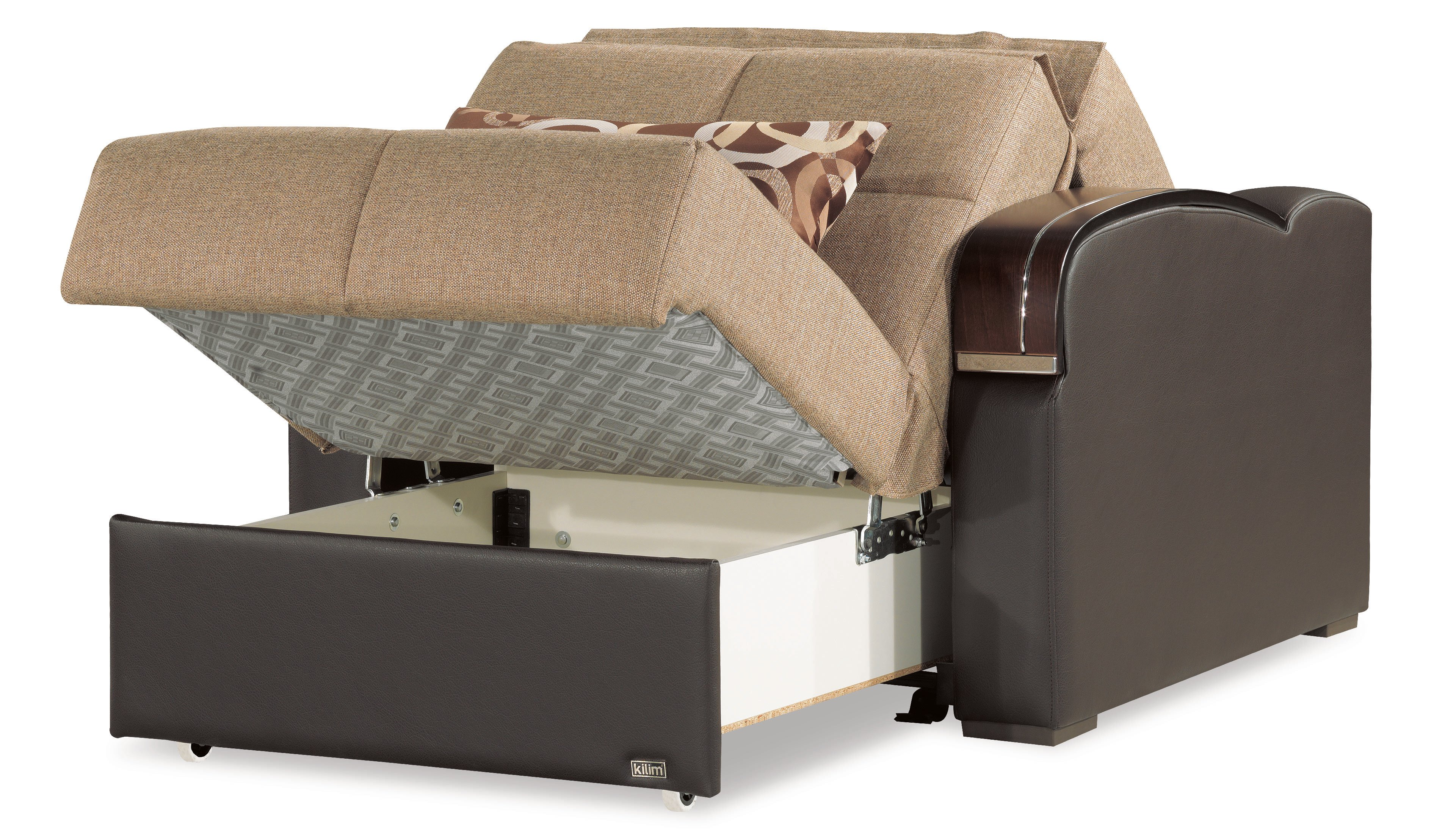 Sleep Plus Brown Convertible Chair Bed By Casamode