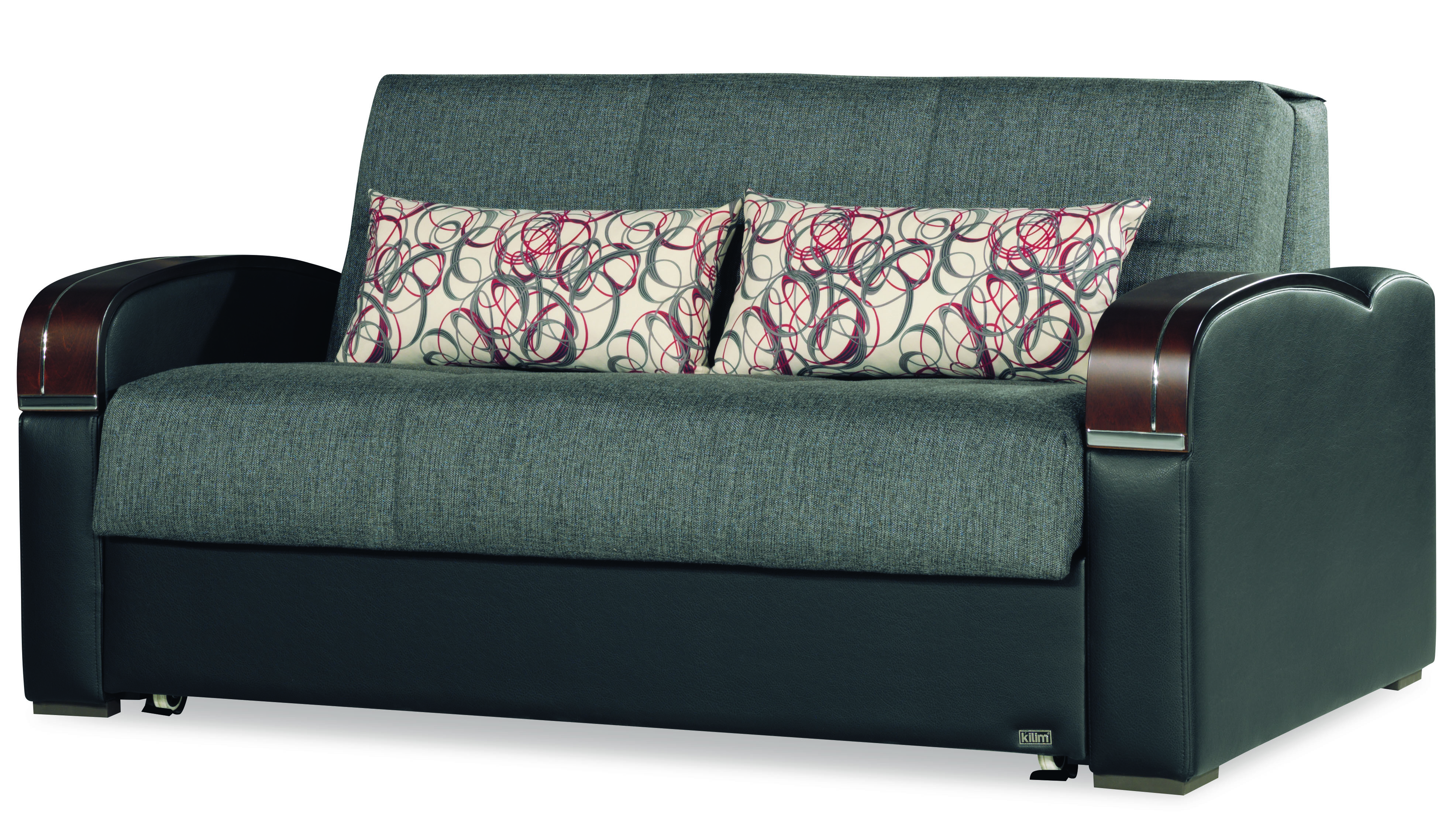 sleep plus gray convertible loveseat by casamode