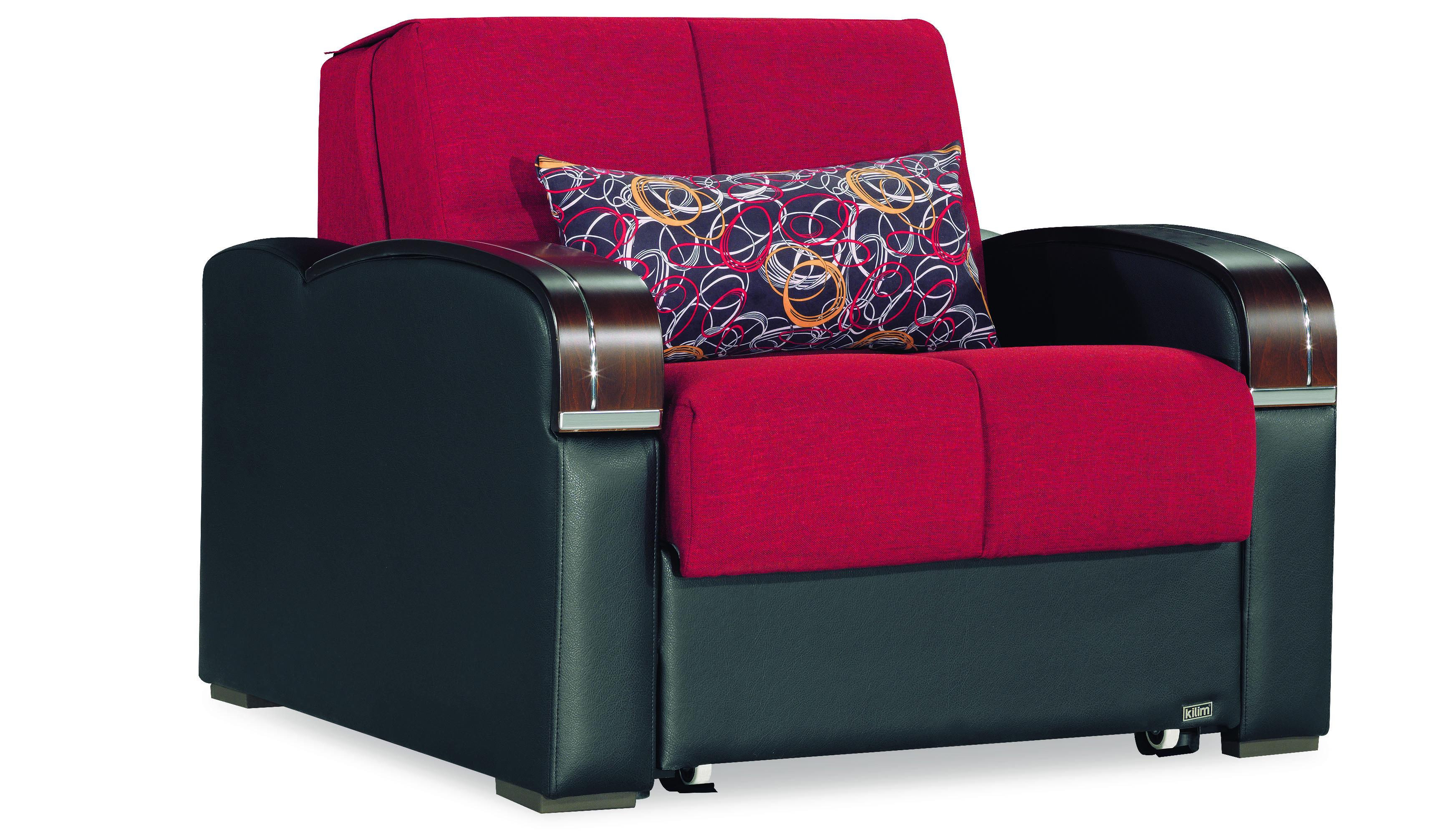 low priced e5a31 c19a5 Sleep Plus Red Convertible Chair Bed by Casamode