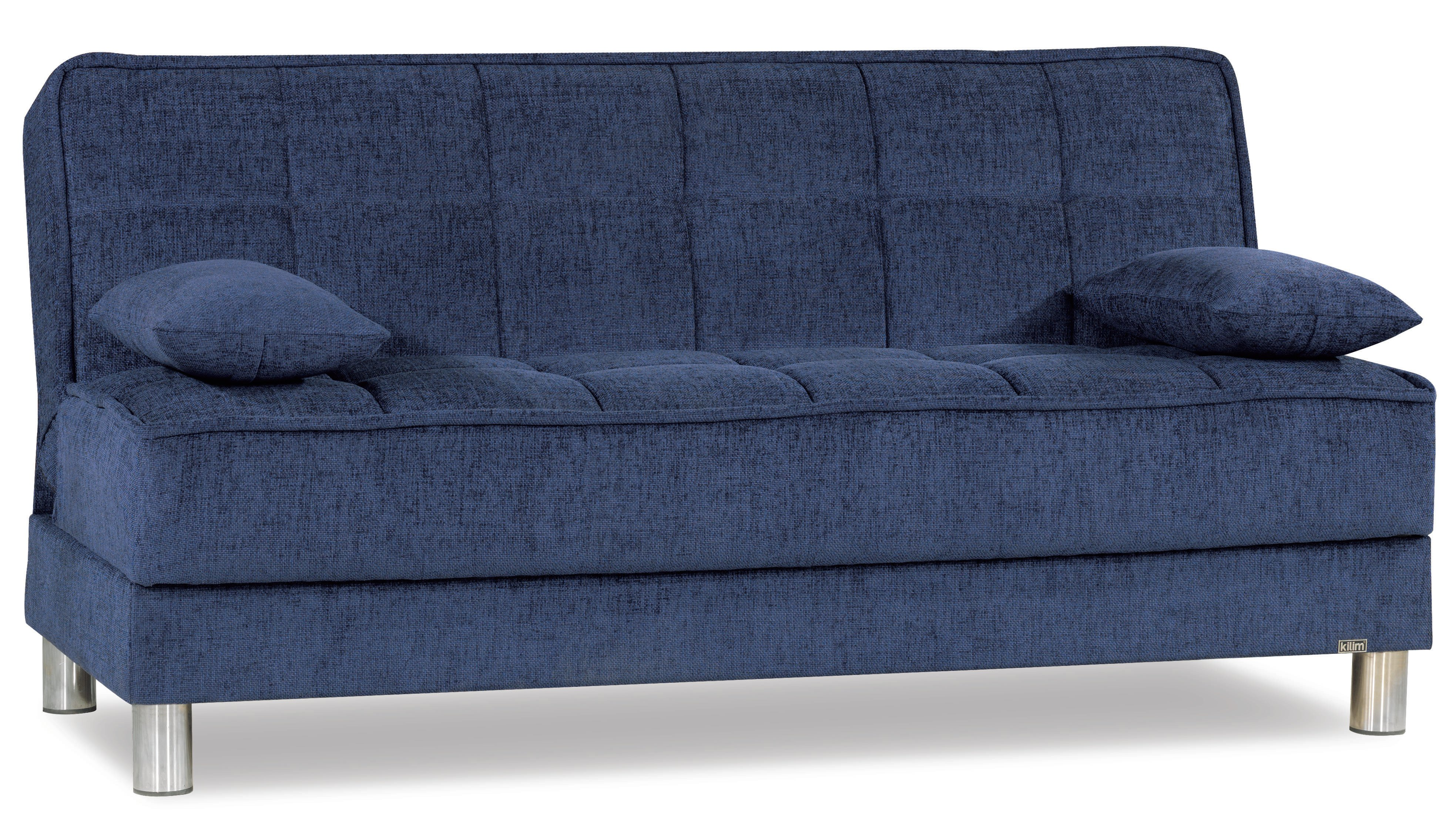 Astounding Smart Fit Navy Blue Convertible Sofa By Casamode Home Interior And Landscaping Dextoversignezvosmurscom