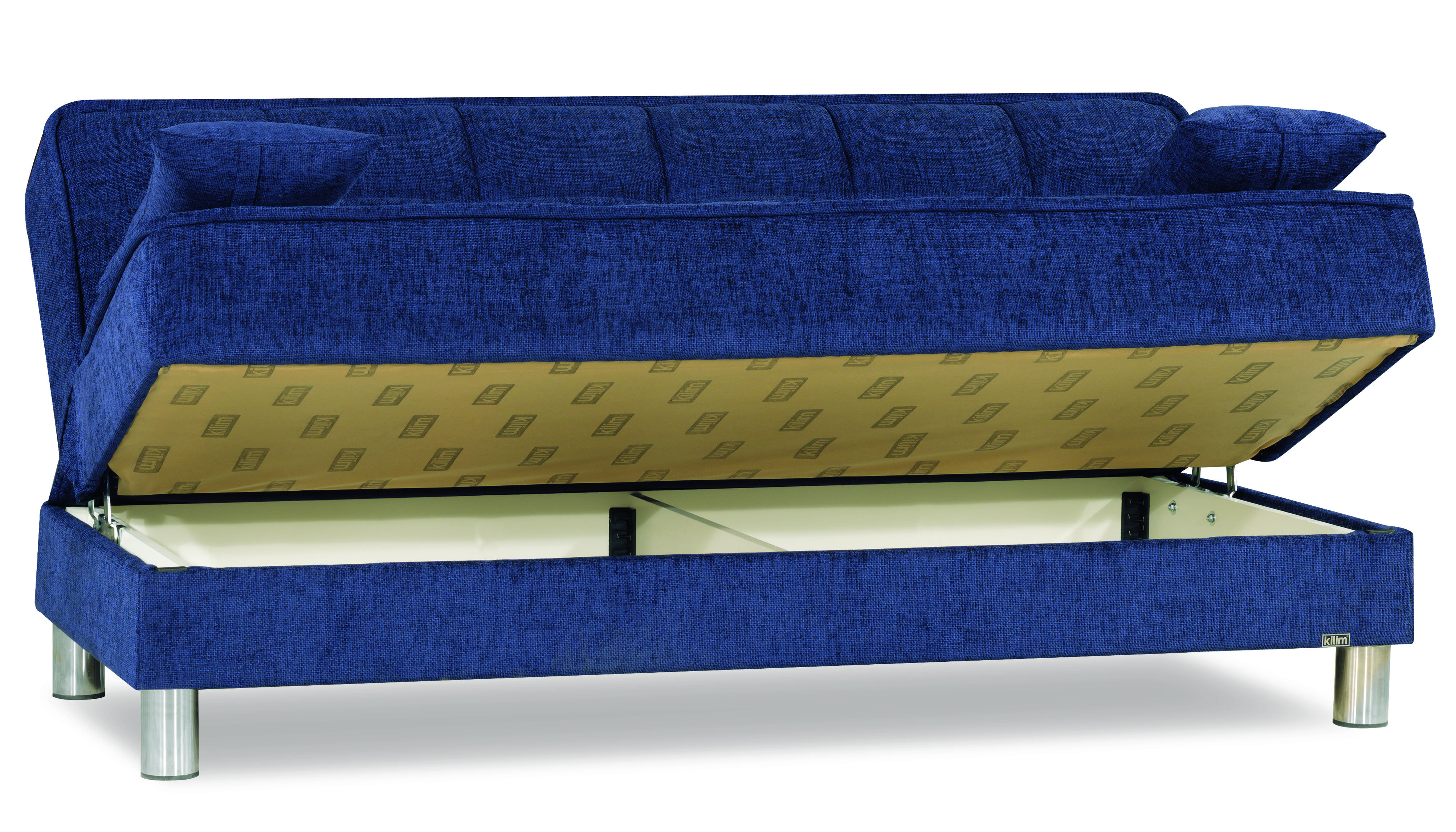Smart Fit Blue Convertible Sofa by Casamode