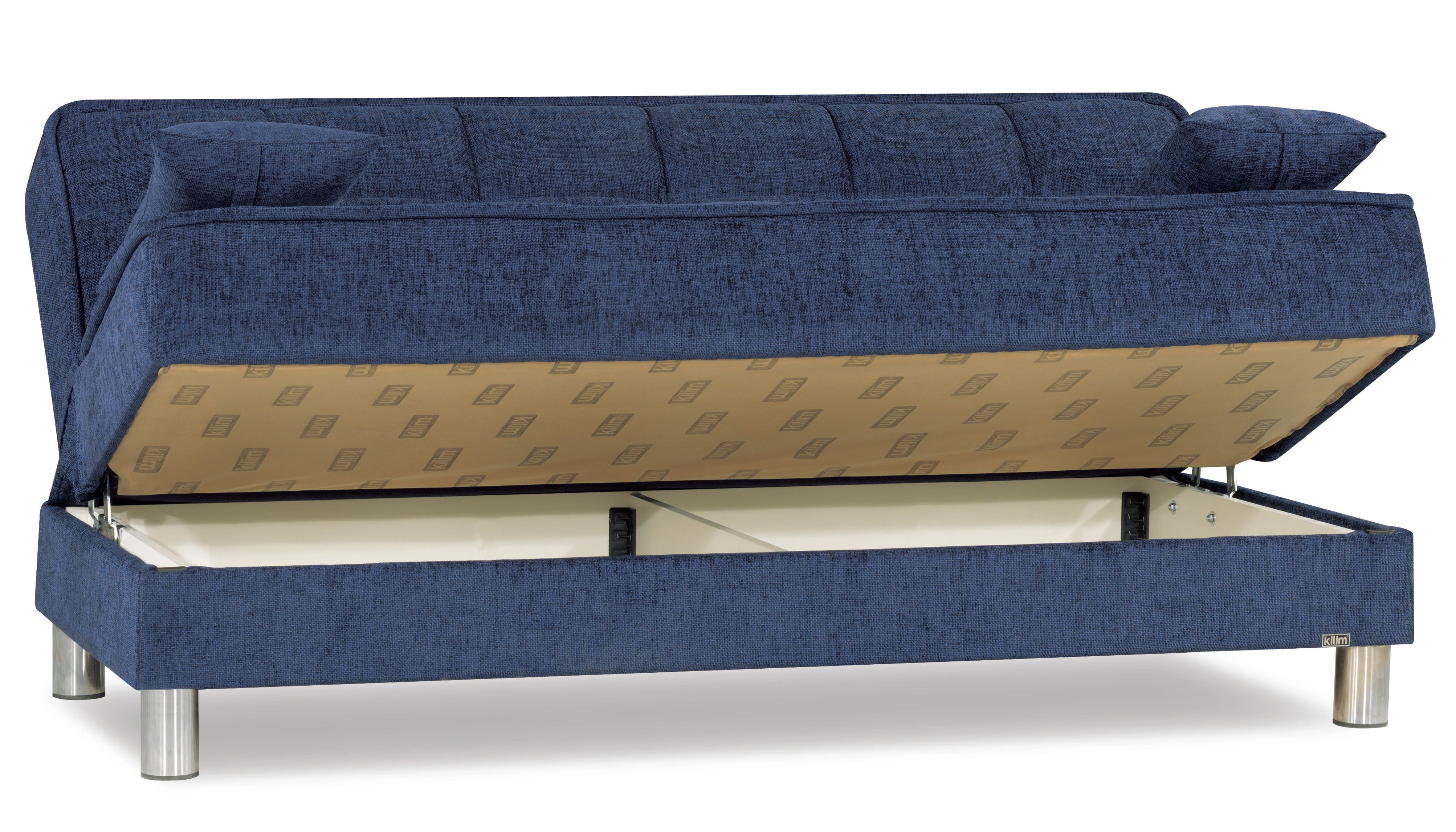 Smart fit navy blue convertible sofa by casamode for Sofas convertibles