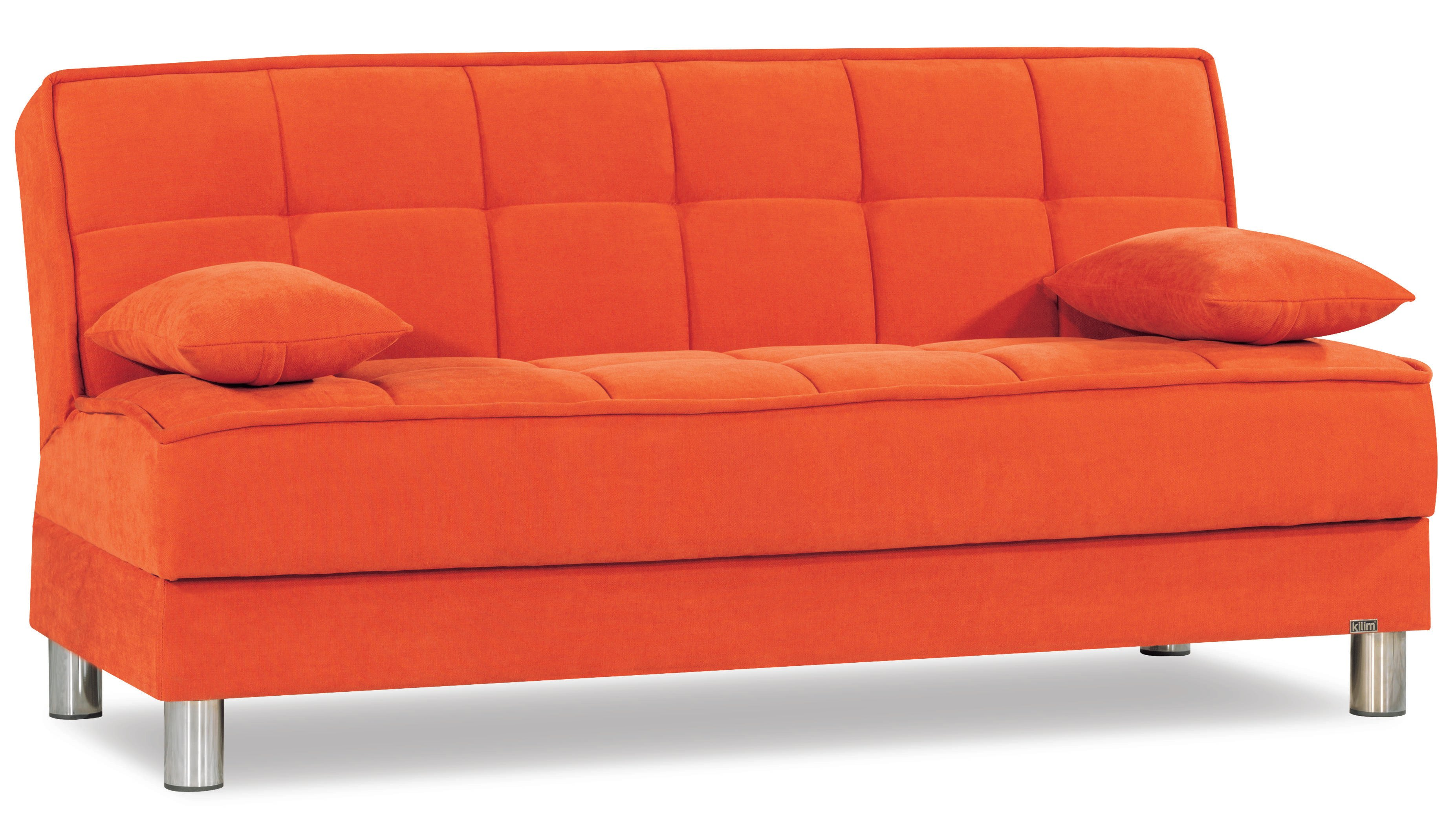 smart fit orange convertible sofa by casamode. Black Bedroom Furniture Sets. Home Design Ideas