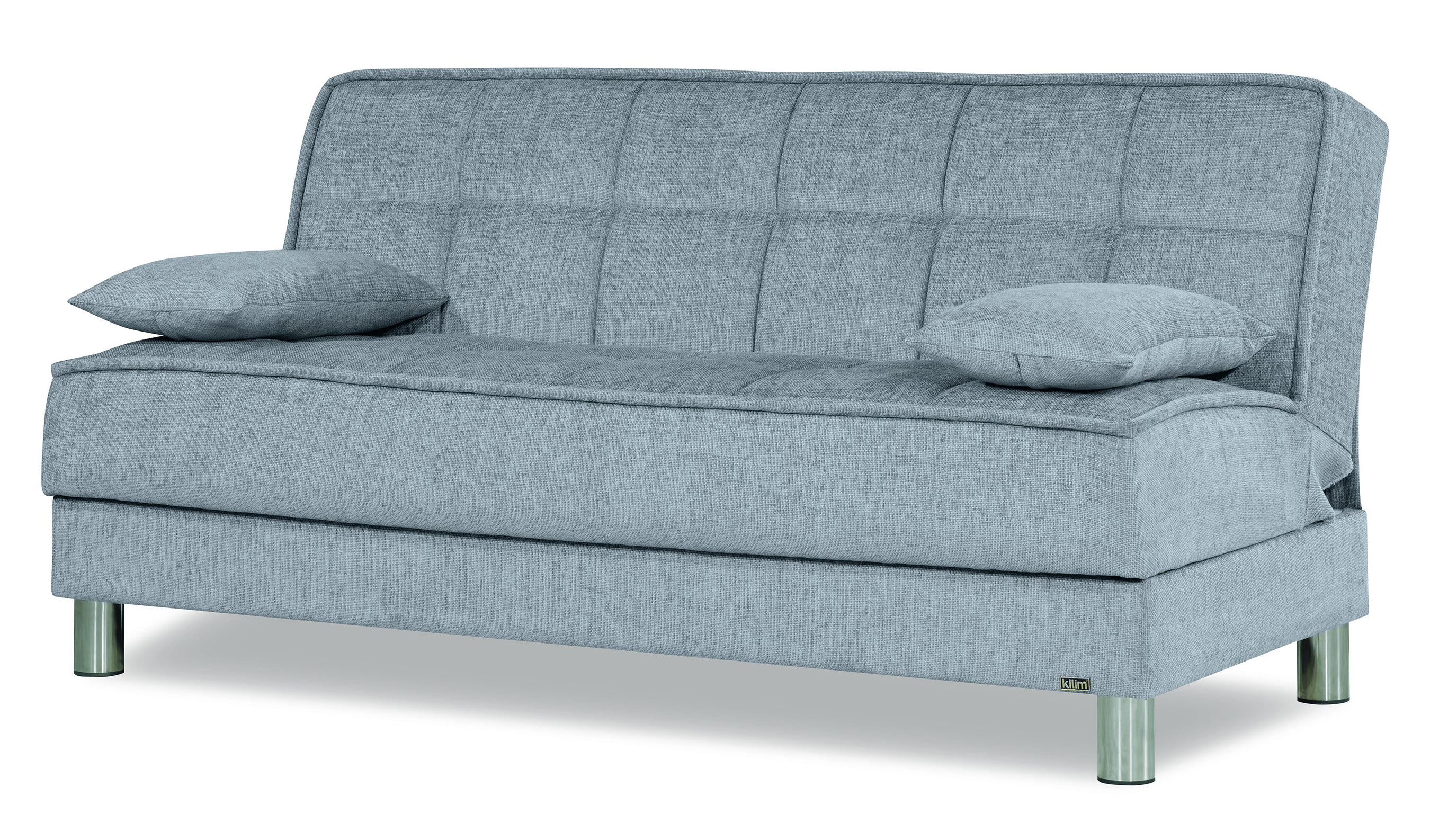 Smart Fit Gray Convertible Sofa by Casamode