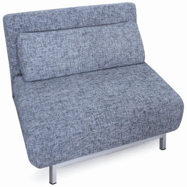 Sofa bed 04 gray single chair sleeper by new spec for Grey single chair
