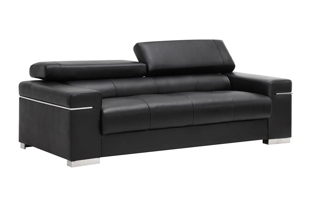 Soho Premium Italian Leather Sofa Black by J&M Furniture