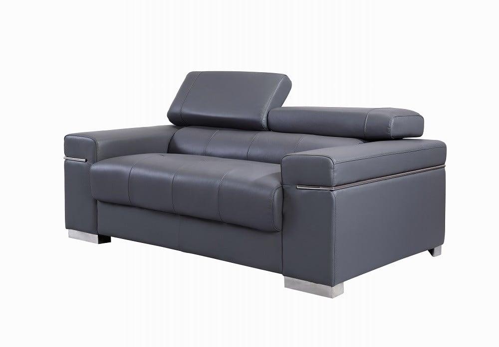 Astonishing Soho Premium Italian Leather Loveseat Gray By Jm Furniture Uwap Interior Chair Design Uwaporg
