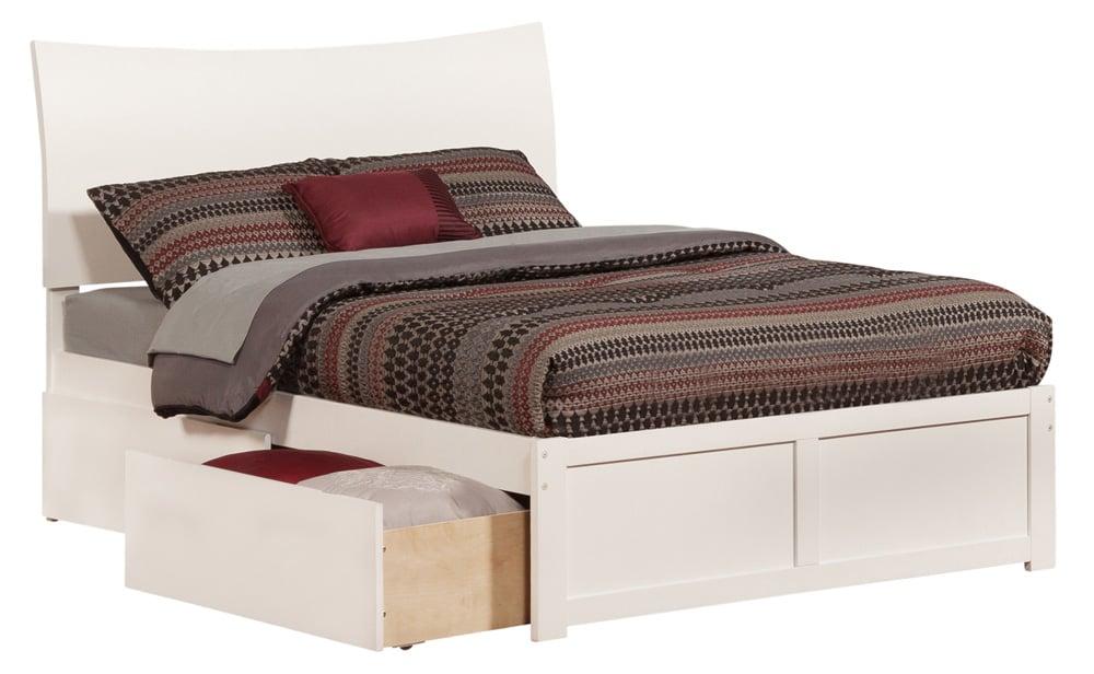 Soho White Platform Bed By Atlantic Furniture