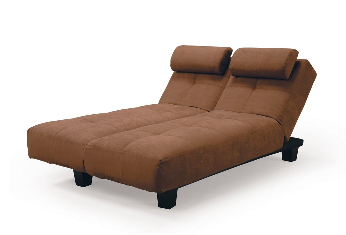 Sofia java casual convertible sofa bed by lifestyle for Chaise lounge convertible bed
