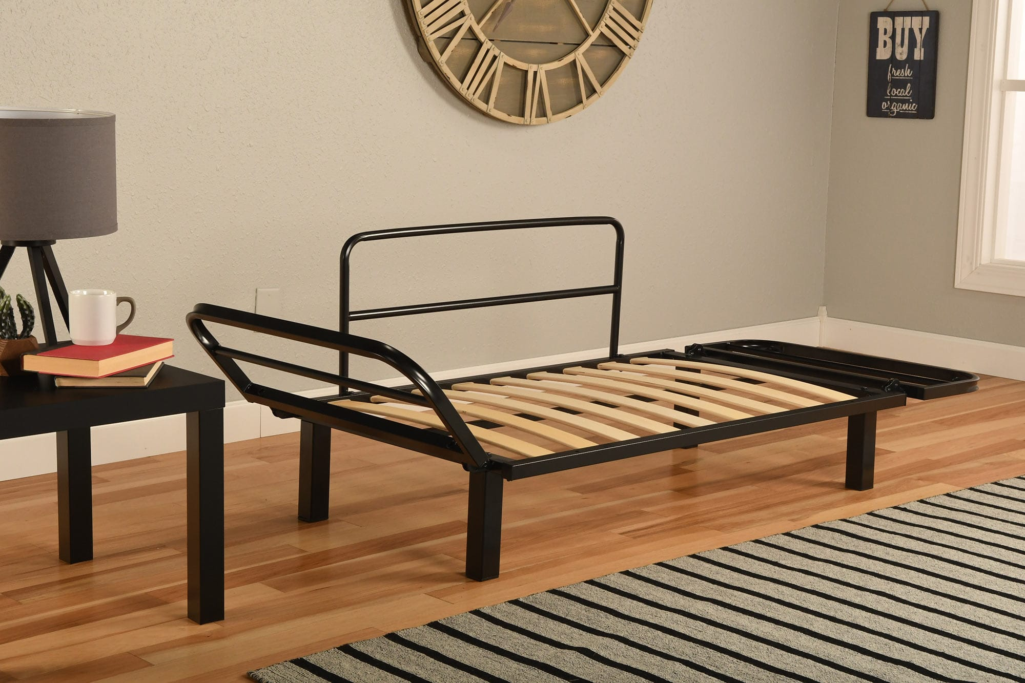 Spacely Futon Daybed/Lounger with Mattress Suede Olive by Kodiak