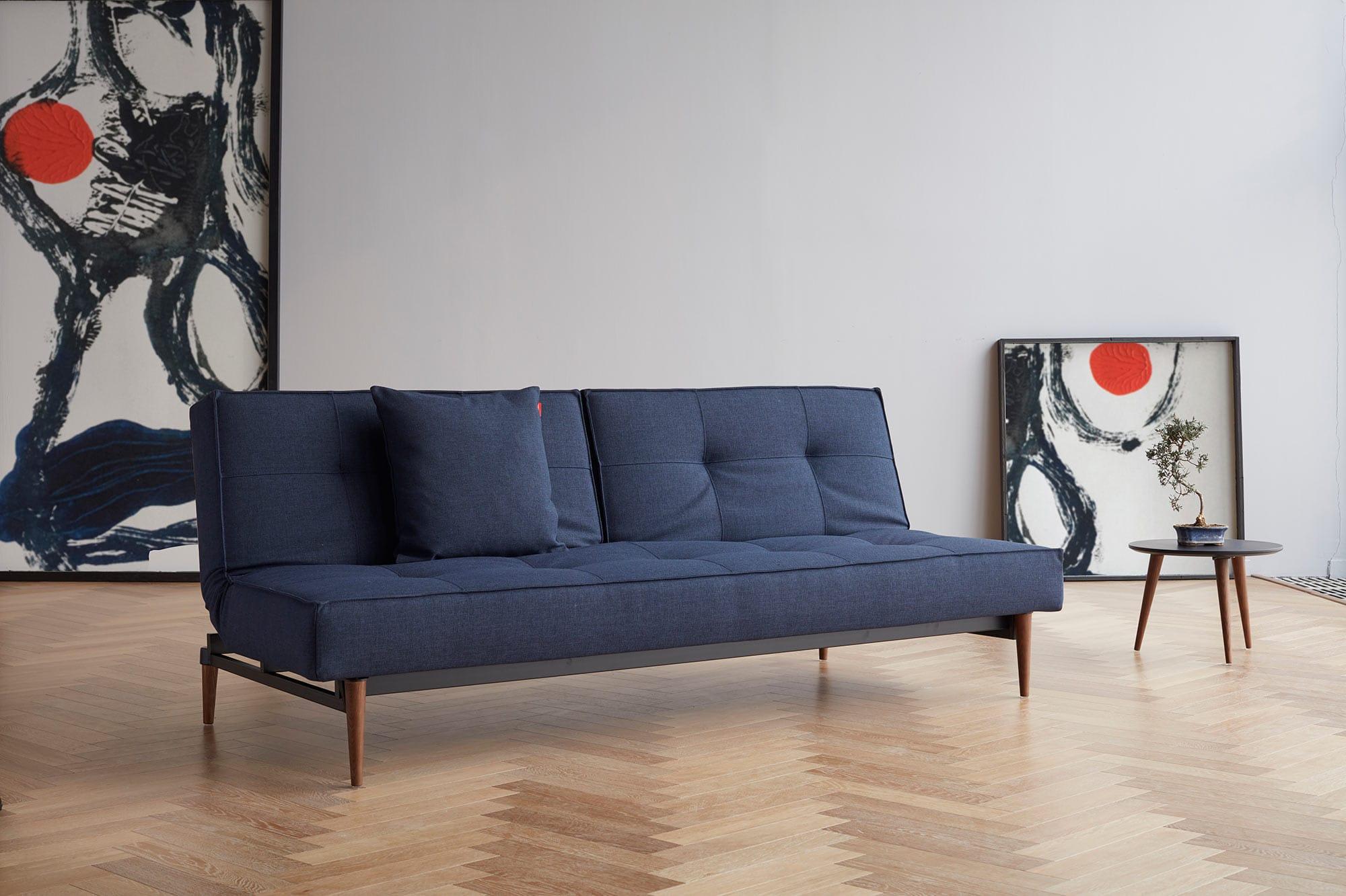 Splitback Sofa Bed Mixed Dance Blue