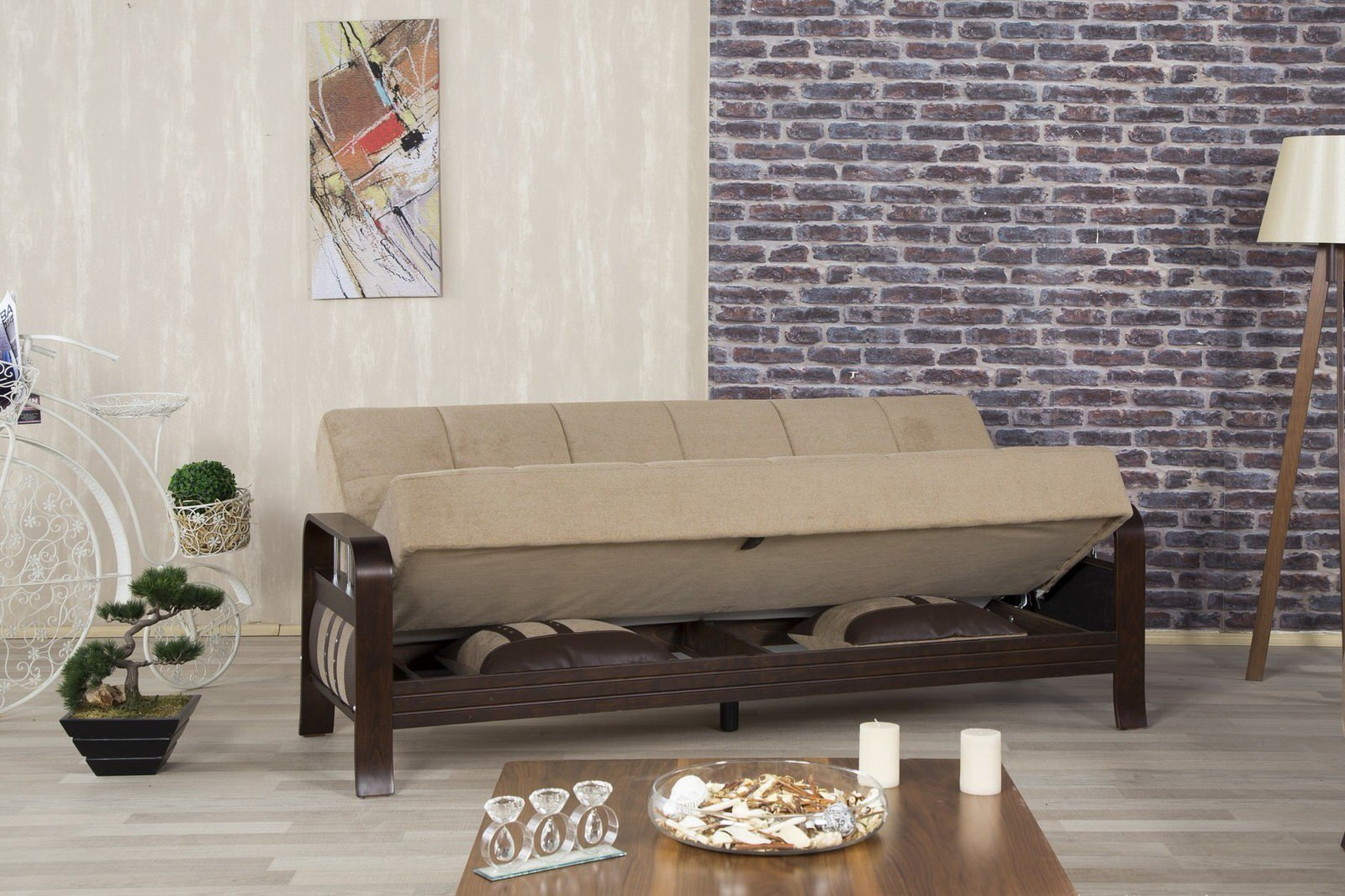 Studio NYC Magnum Brown Convertible Sofa Bed by Casamode