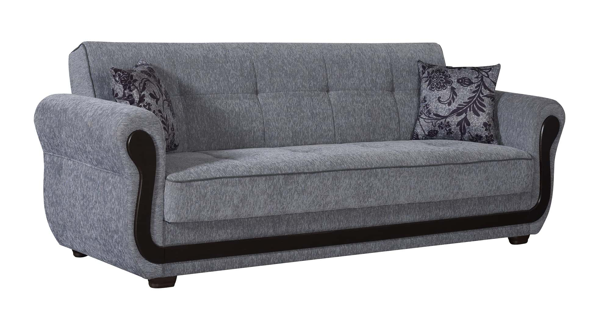 Picture of: Surf Ave Gray Fabric Sofa Bed By Empire Furniture Usa