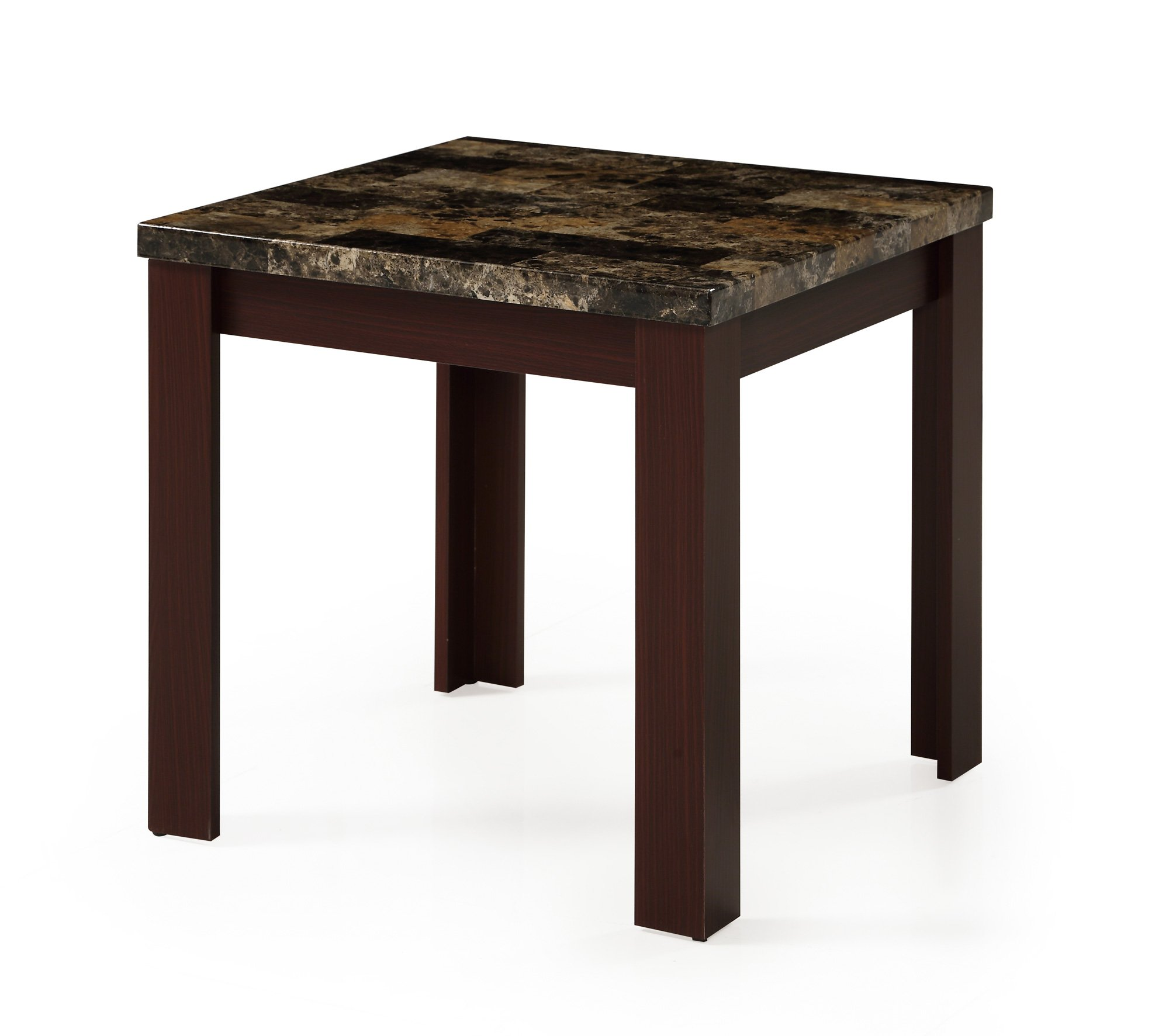 End table t850e red brown by global furniture for Red side table
