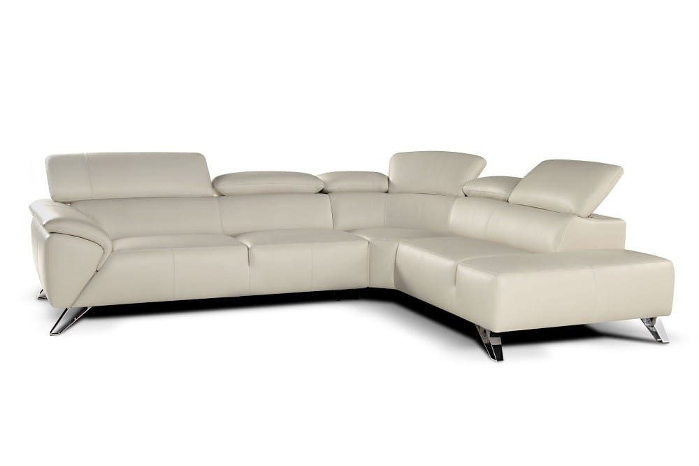 Tremendous Tesla Premium Italian Leather Sectional Sofa White By Jm Furniture Andrewgaddart Wooden Chair Designs For Living Room Andrewgaddartcom
