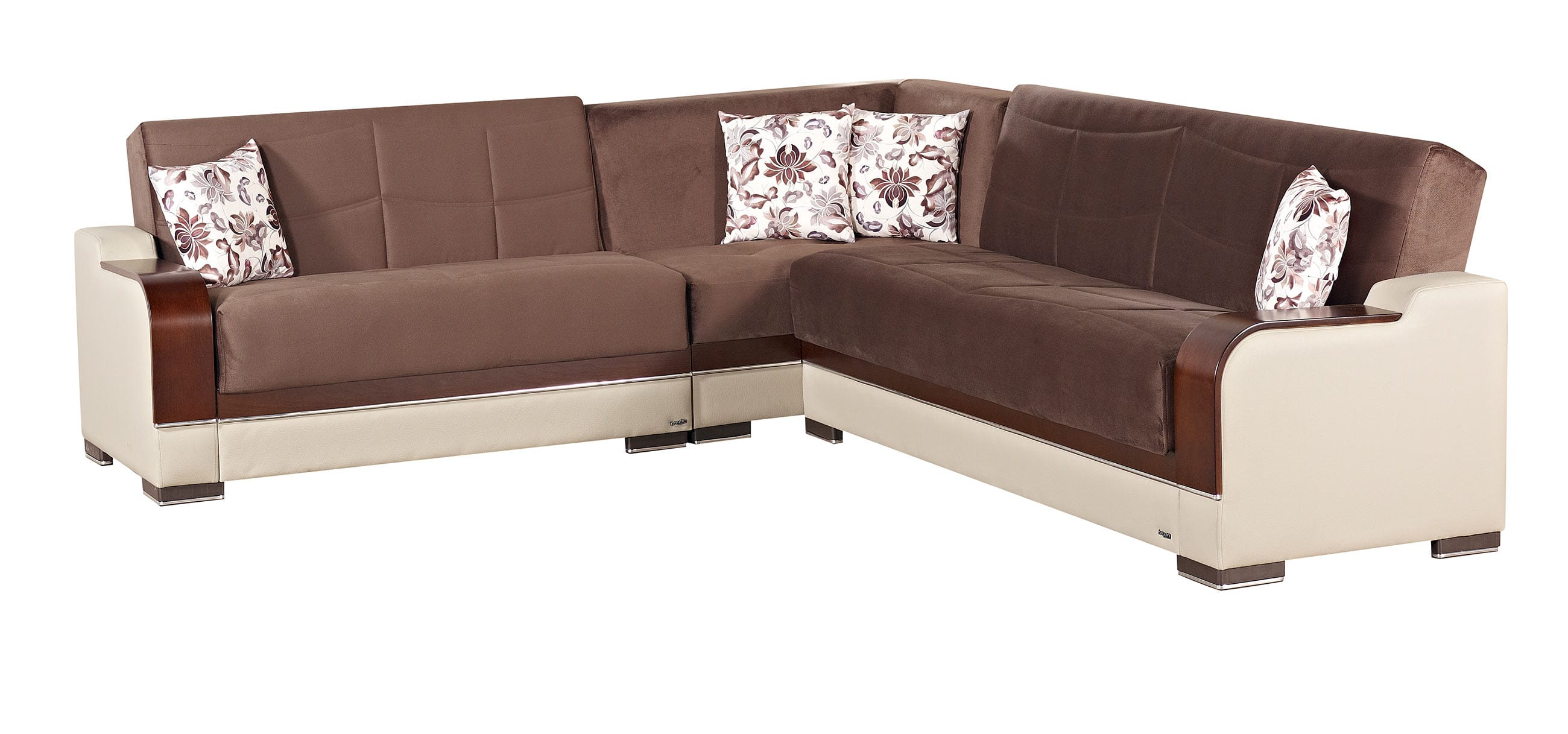 Texas Brown Fabric Sectional Sofa by Empire Furniture USA