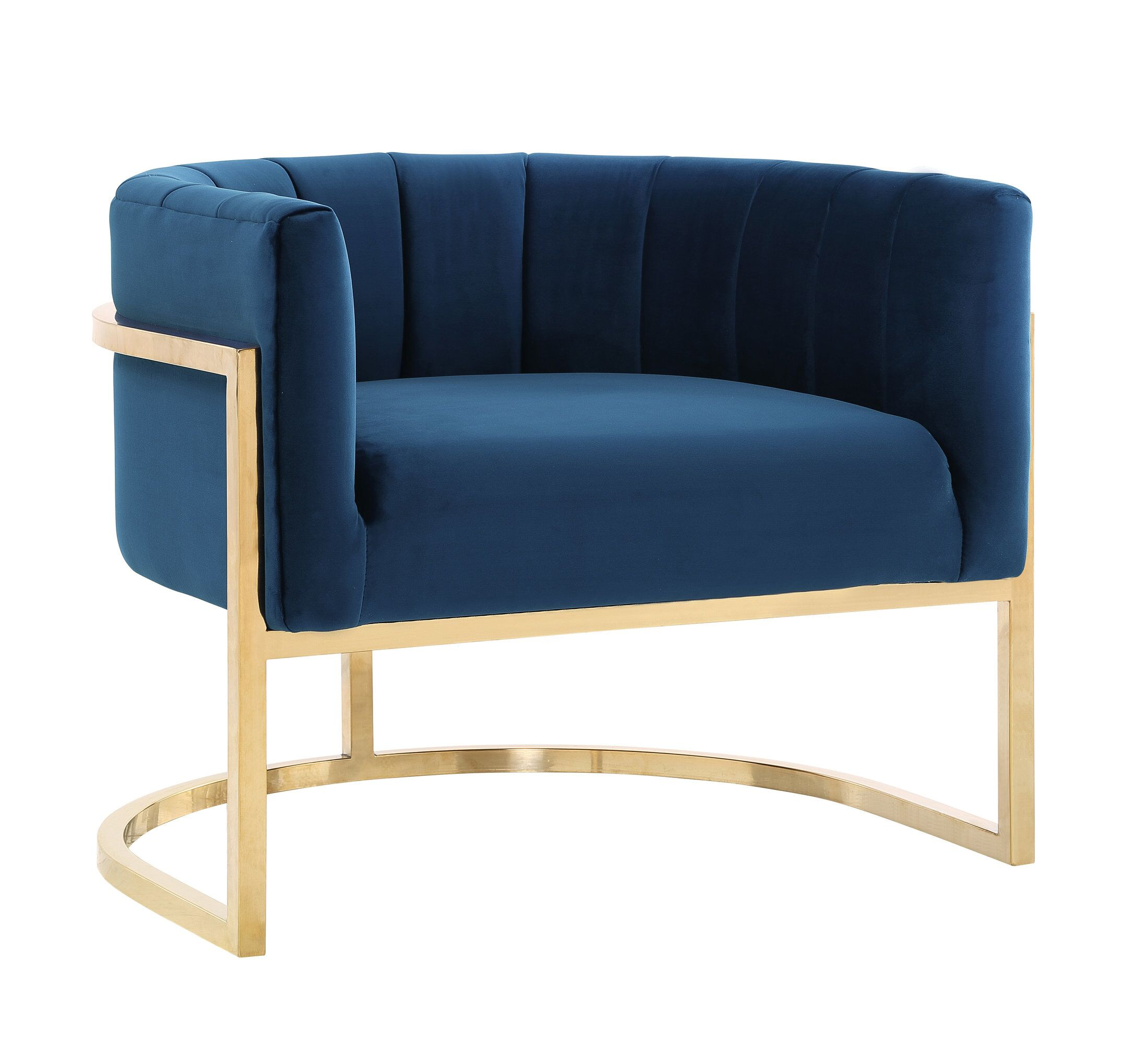 Picture of: Magnolia Navy Blue Chair W Gold Base By Tov Furniture
