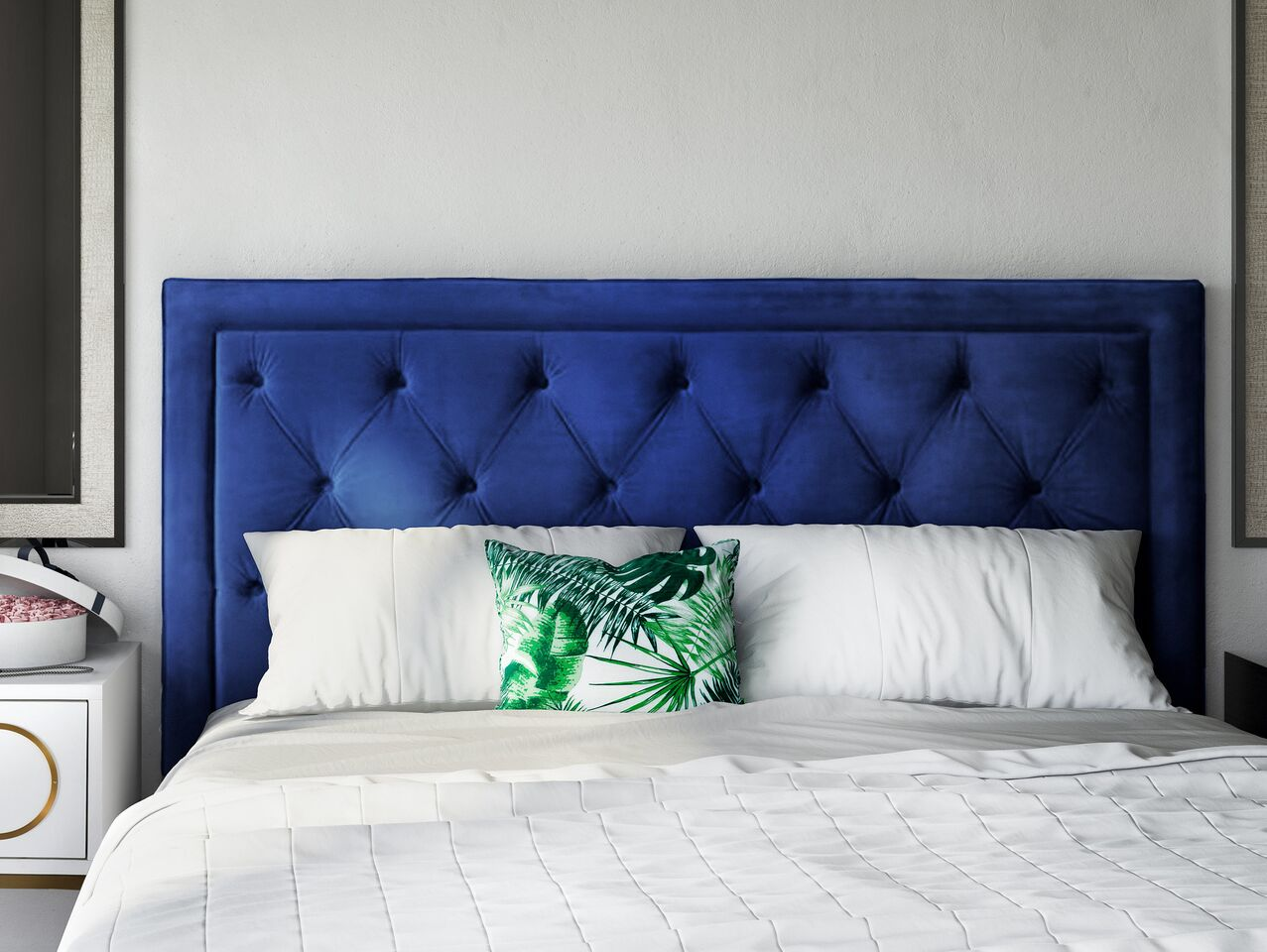 Picture of: Nacht Navy Blue Velvet King Headboard By Tov Furniture