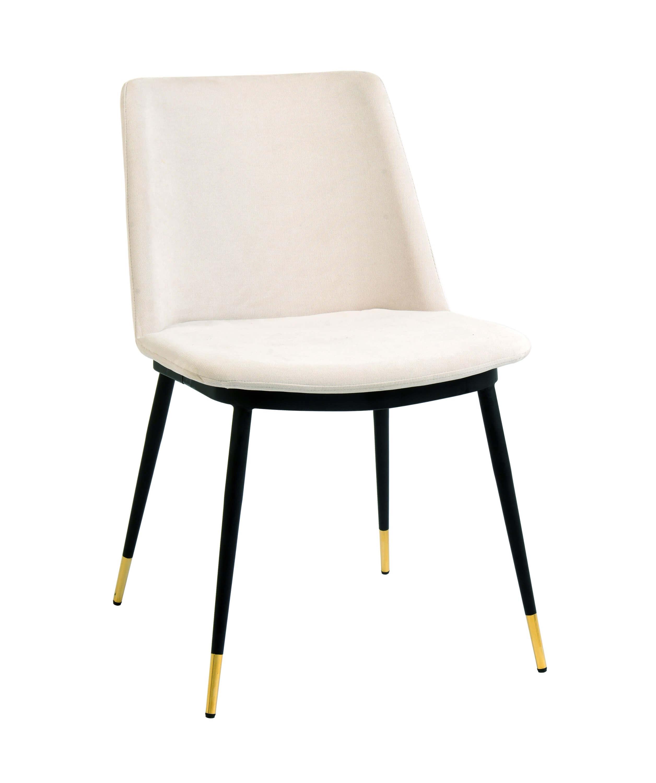 Surprising Evora Cream Velvet Chair W Gold Legs Set Of 2 By Tov Furniture Dailytribune Chair Design For Home Dailytribuneorg