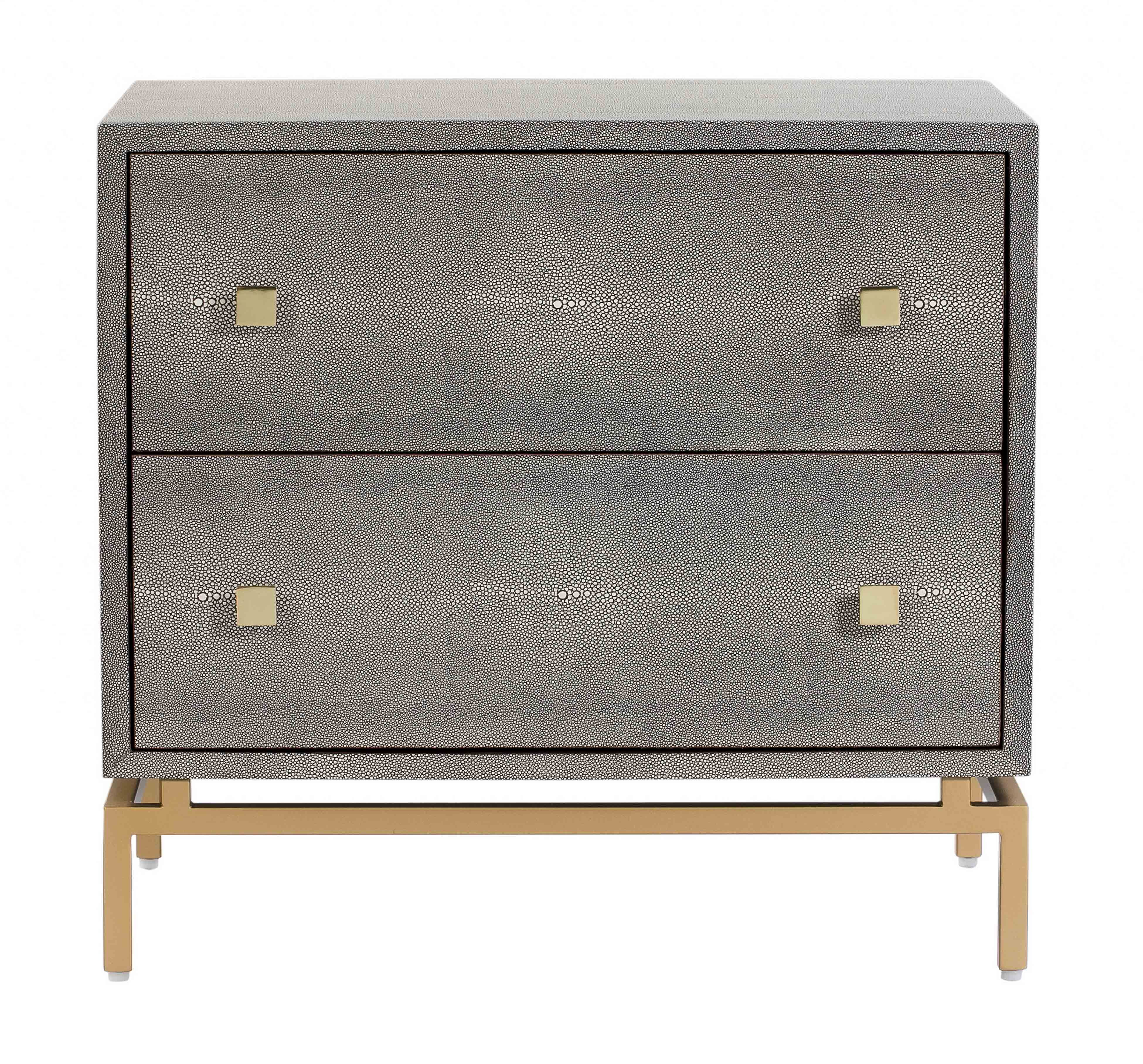 Pesce Grey Shagreen Nightstand By Tov Furniture
