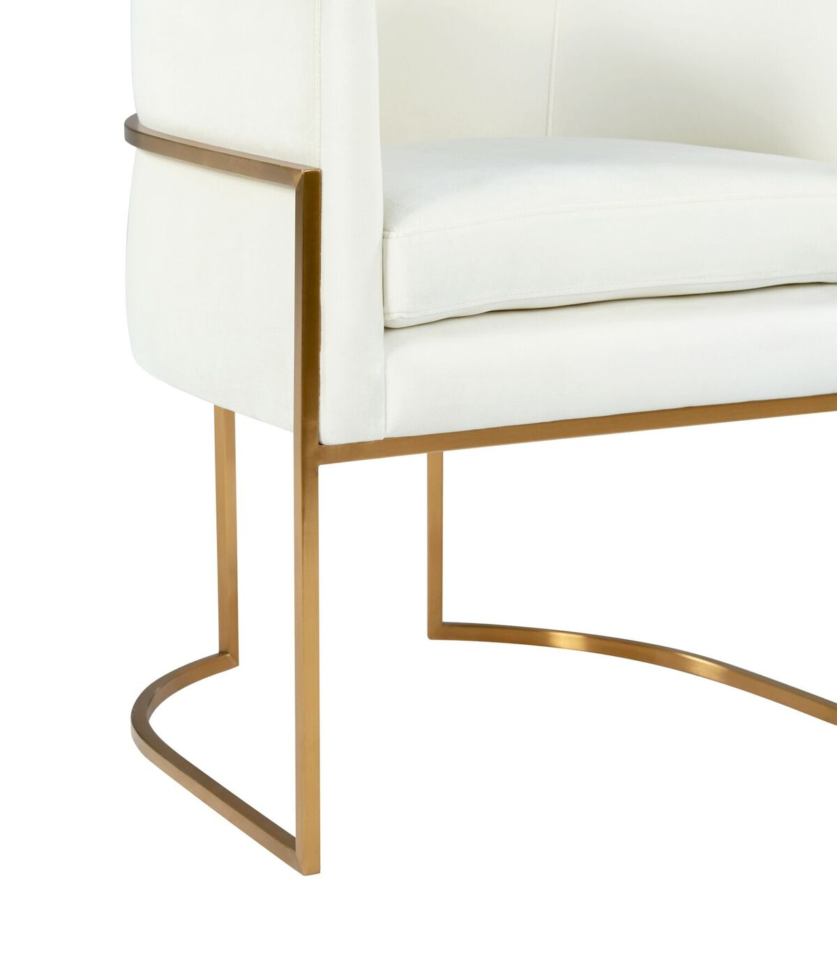 Picture of: Giselle Cream Velvet Dining Chair W Gold Leg By Tov Furniture