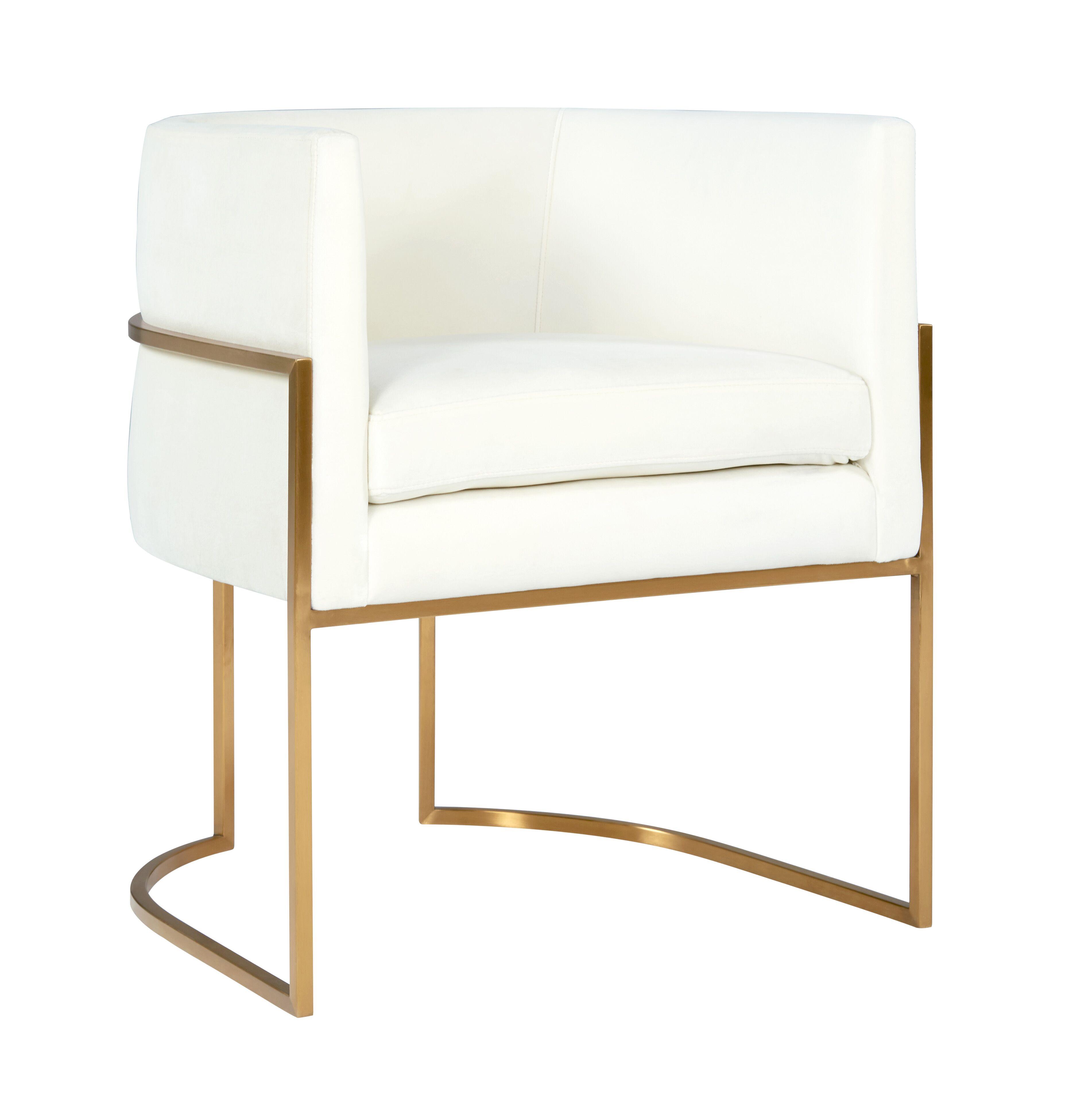 Awe Inspiring Giselle Cream Velvet Dining Chair W Gold Leg By Tov Furniture Dailytribune Chair Design For Home Dailytribuneorg