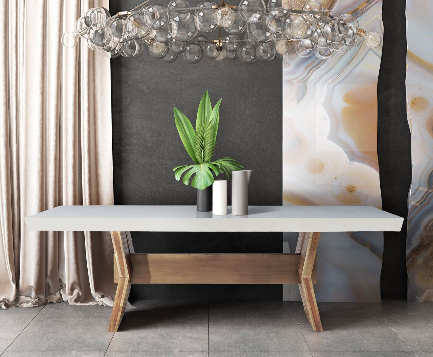 Astoria White Concrete Dining Table By Tov Furniture