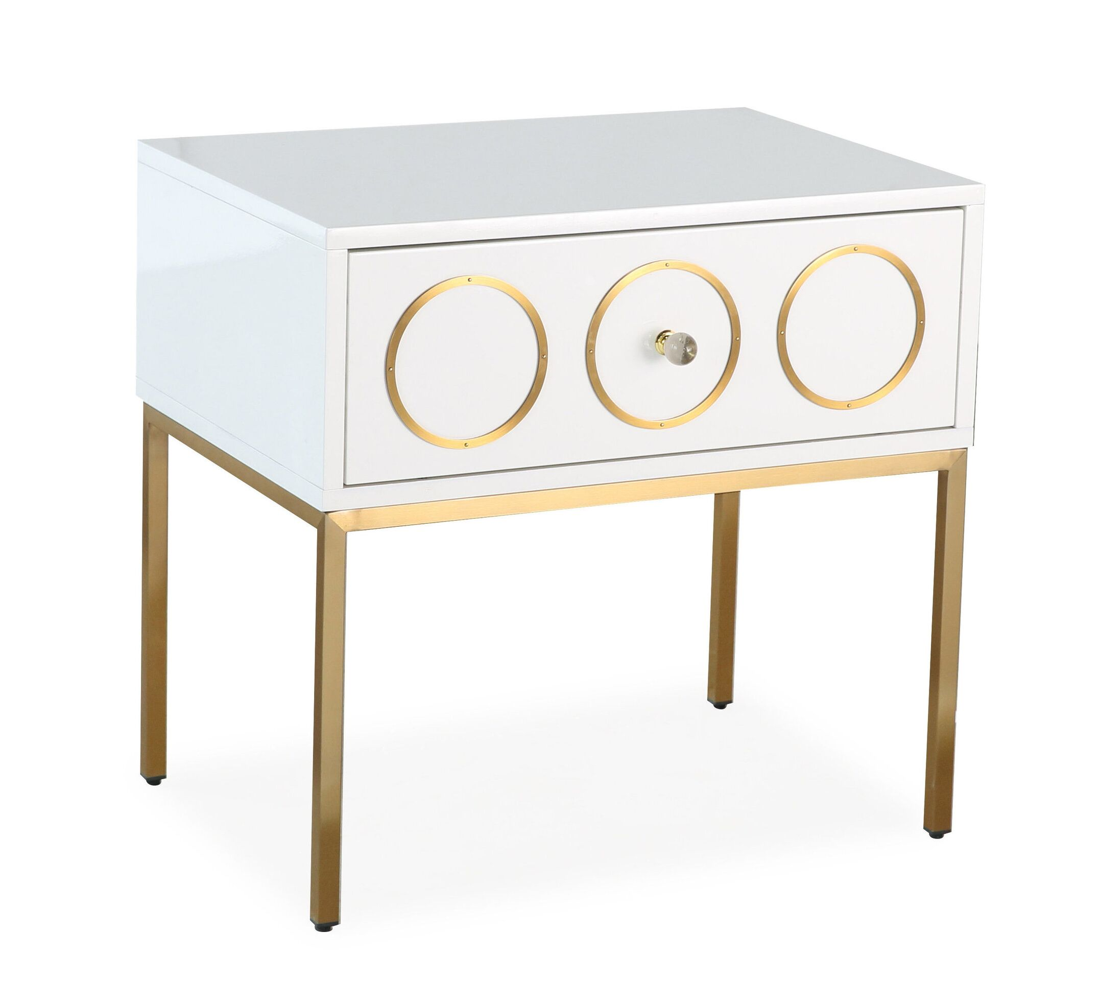 Ella White Gold Side Table By Tov Furniture