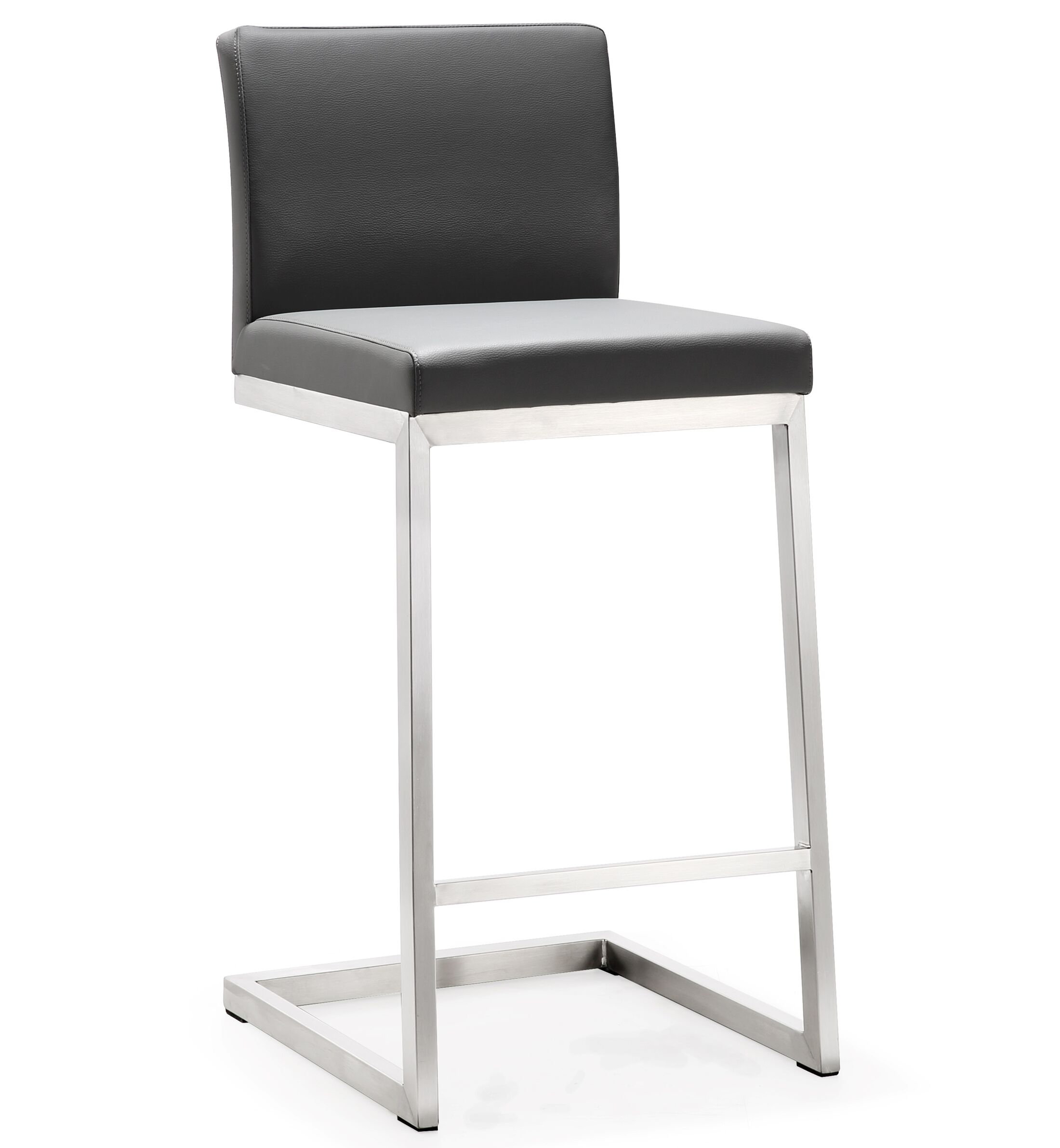 Fantastic Parma Grey Stainless Steel Counter Stool Set Of 2 By Tov Furniture Caraccident5 Cool Chair Designs And Ideas Caraccident5Info