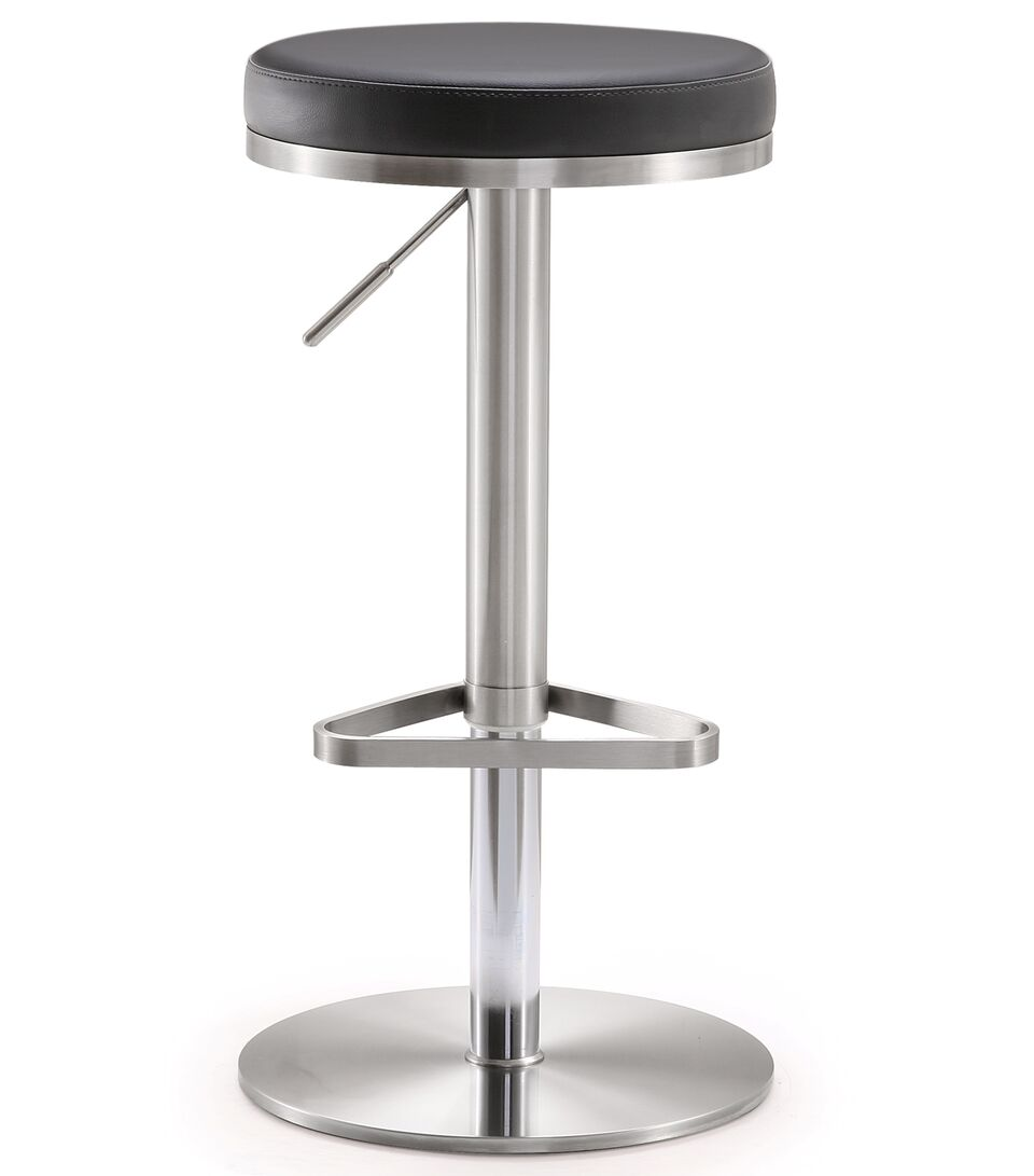 Fabulous Fano Black Stainless Steel Adjustable Barstool By Tov Furniture Forskolin Free Trial Chair Design Images Forskolin Free Trialorg