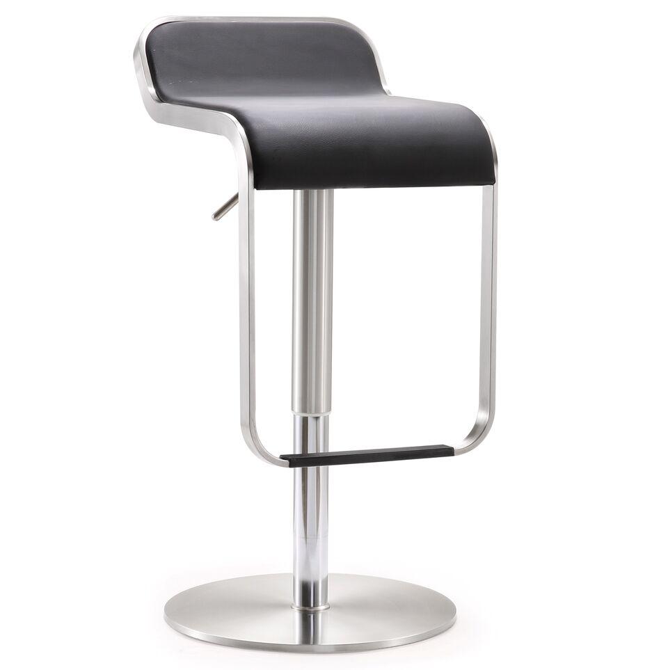 Astonishing Napoli Black Stainless Steel Adjustable Barstool By Tov Furniture Forskolin Free Trial Chair Design Images Forskolin Free Trialorg