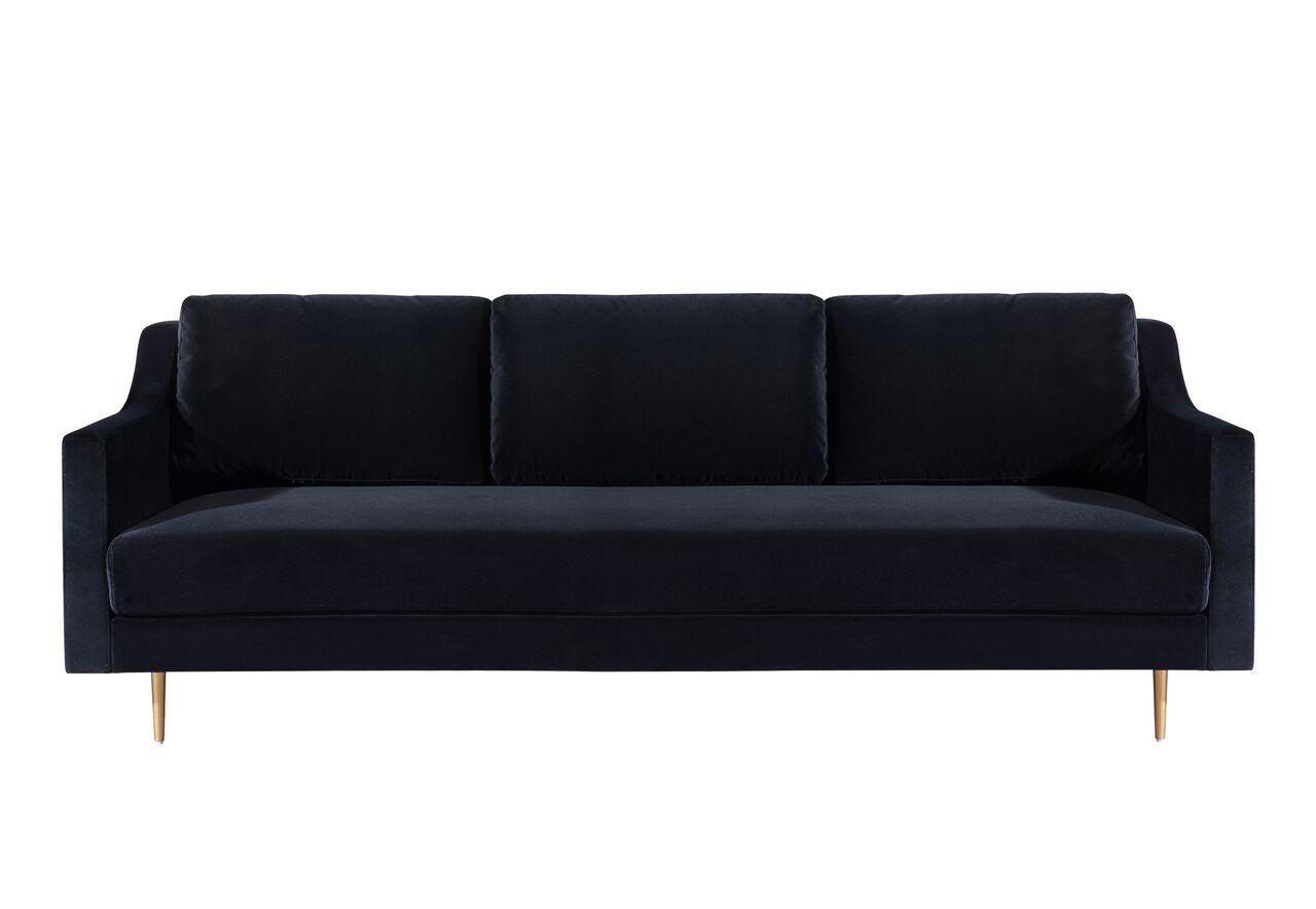 low priced 1890d c35c0 Milan Black Velvet Sofa by TOV Furniture