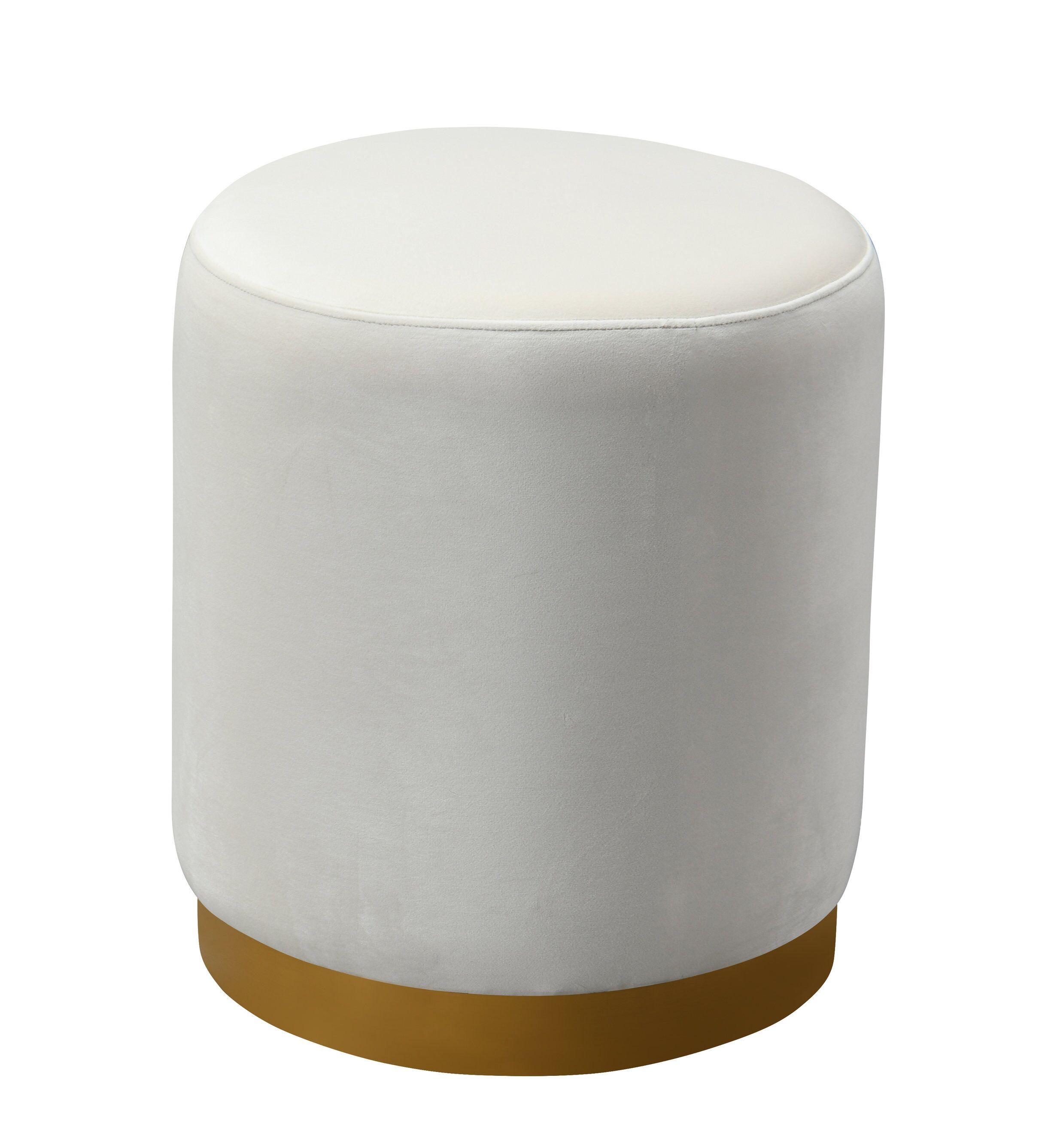 Pleasant Opal Cream Velvet Ottoman W Gold Base By Tov Furniture Cjindustries Chair Design For Home Cjindustriesco