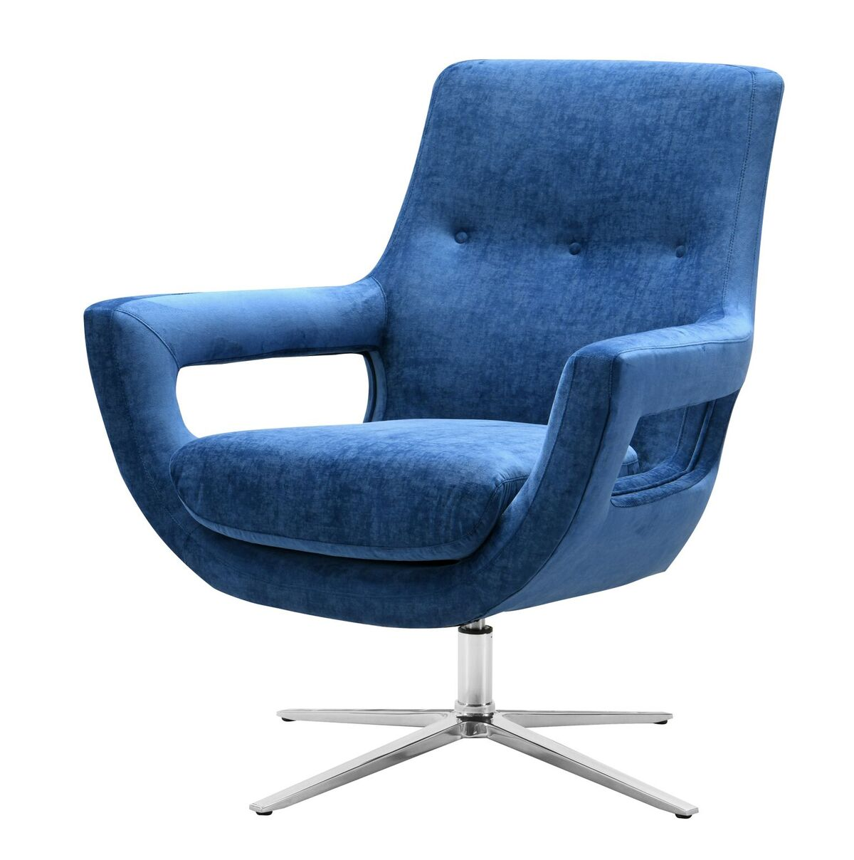 Strange Fifi Navy Blue Swivel Chair By Tov Furniture Unemploymentrelief Wooden Chair Designs For Living Room Unemploymentrelieforg