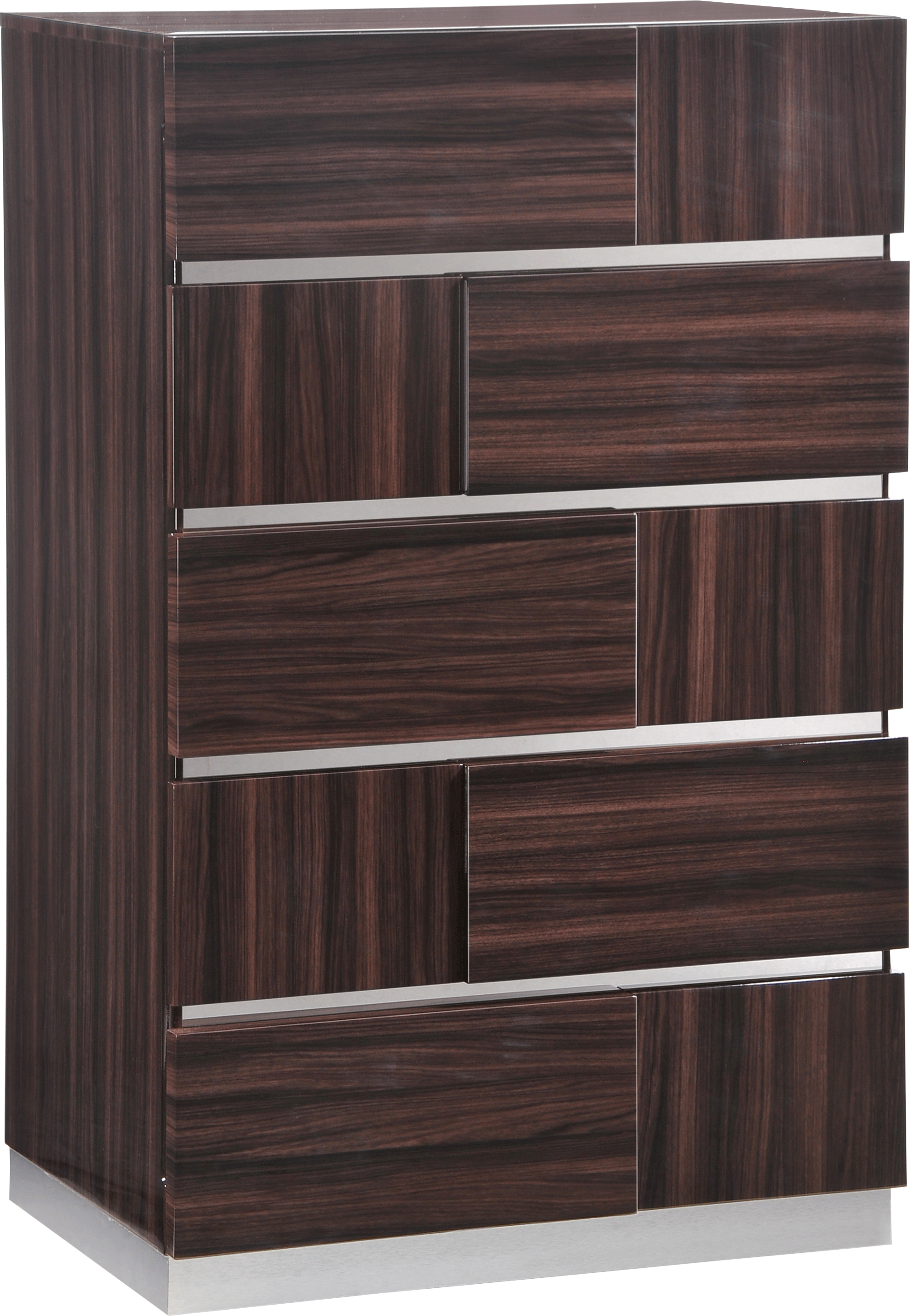 Tribeca Wood Grain Glossy Bedroom Set by Global Furniture