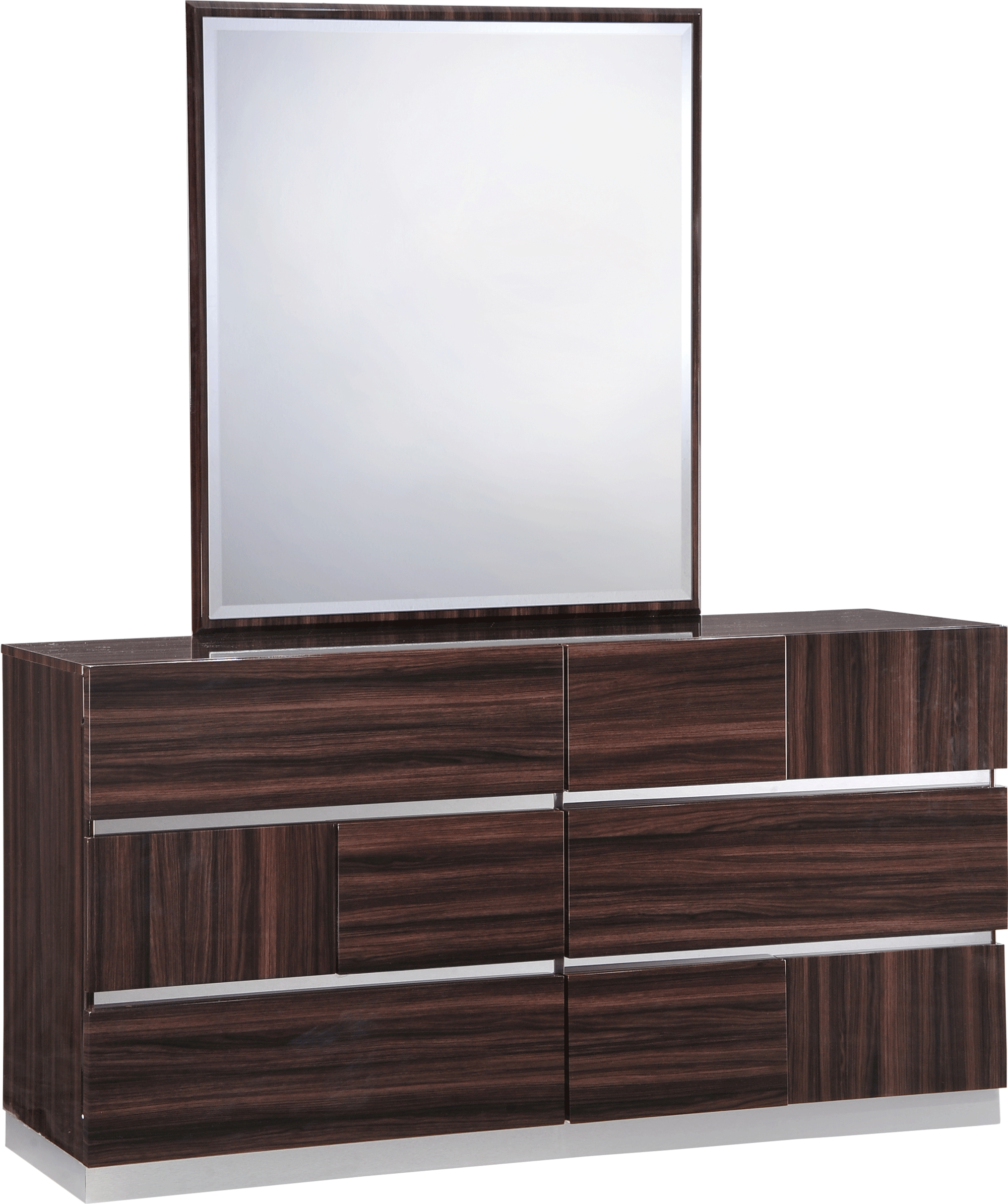 . Tribeca Wood Grain Glossy Bedroom Set by Global Furniture